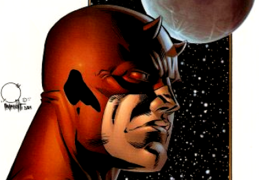 Daredevil is not happy with my captioning in this installment. (image from manwithoutfear.com)
