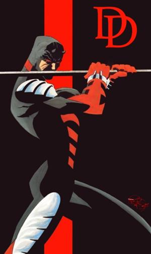 Daredevil, working that deep stretch. (image from superherohype.com)