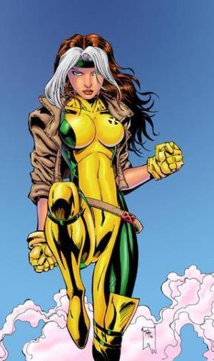 There is no reason for Rogue to ever wear any other costume but this one. Leather jackets forever! (image from marvelheroes.com)