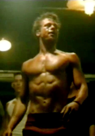 Brad Pitt, shredded like lettuce. Not to make you feel bad about yourself or anything. (photo from cinema.theiapolis.com)