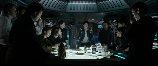 """""""Relax, folks. Nothing bad has ever happened to a crew gathered around a table in an Alien movie."""" (slashfilm.com)"""