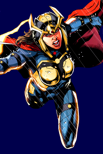 Just imagining her busting heads onscreen. How cool would that be?!