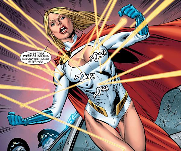Said Power Girl to the Hollywood establishment.