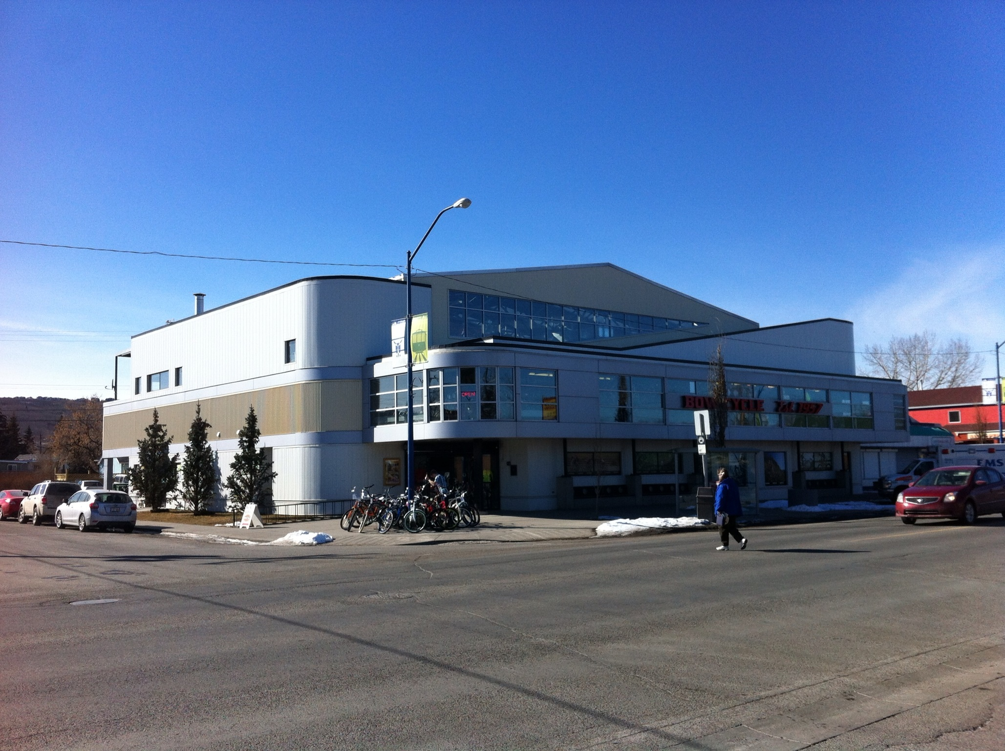 Bow Cycle building one of Canada's best bike stores. Anchor tenant for Main Street.