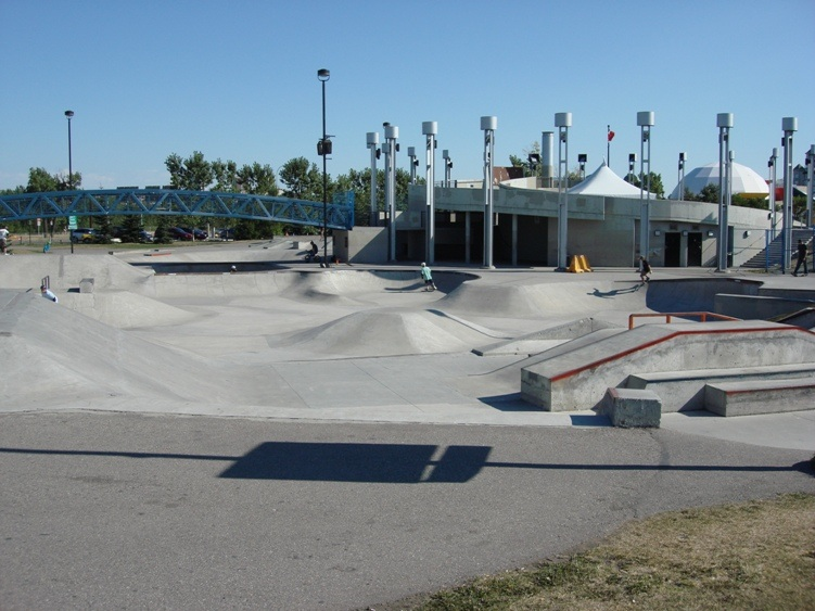 The skate park is divided into three zone - beginner, intermediate and expert.