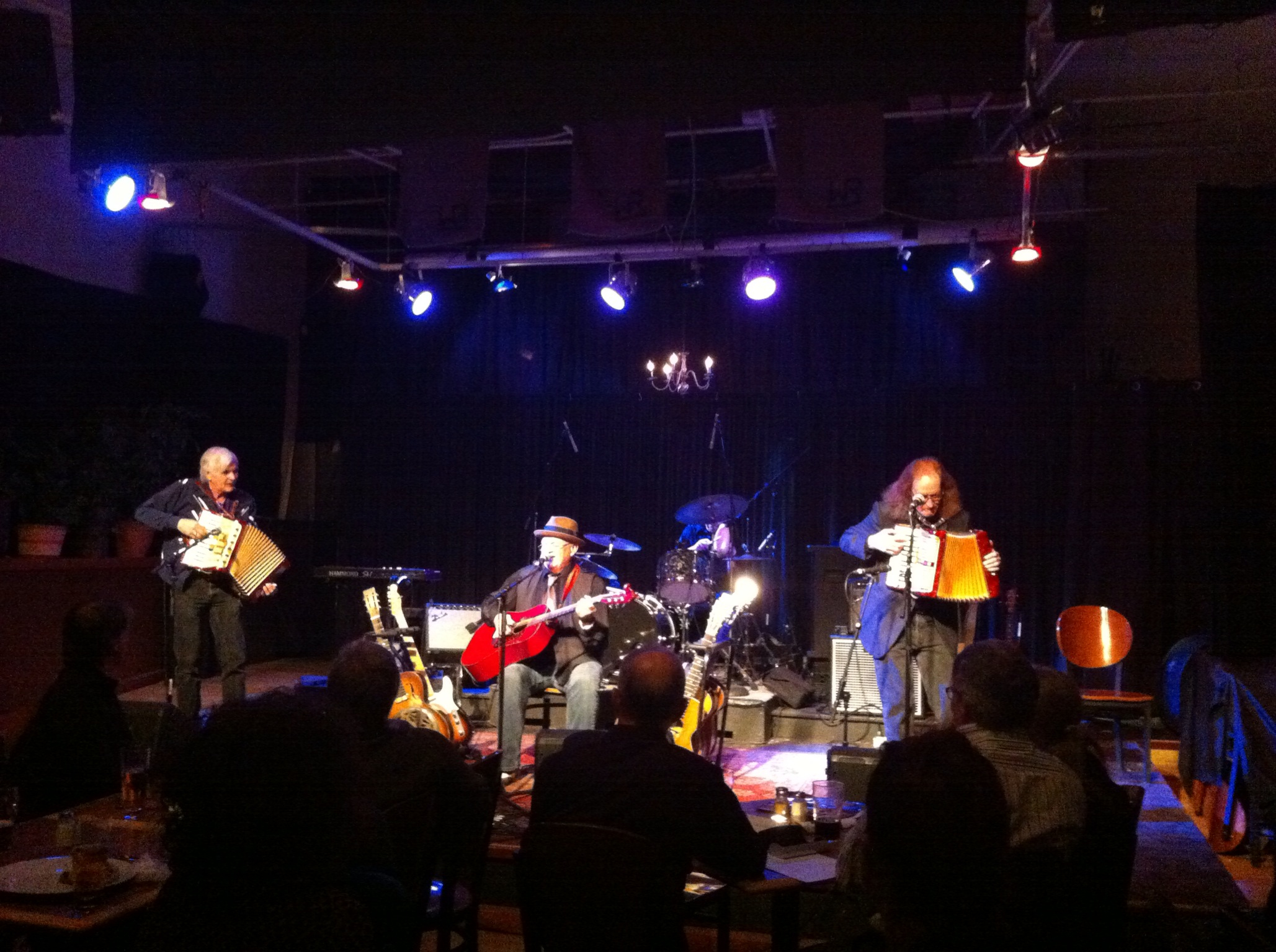 When was the last time you saw two accordion players on the stage at the same time at a blues concert.