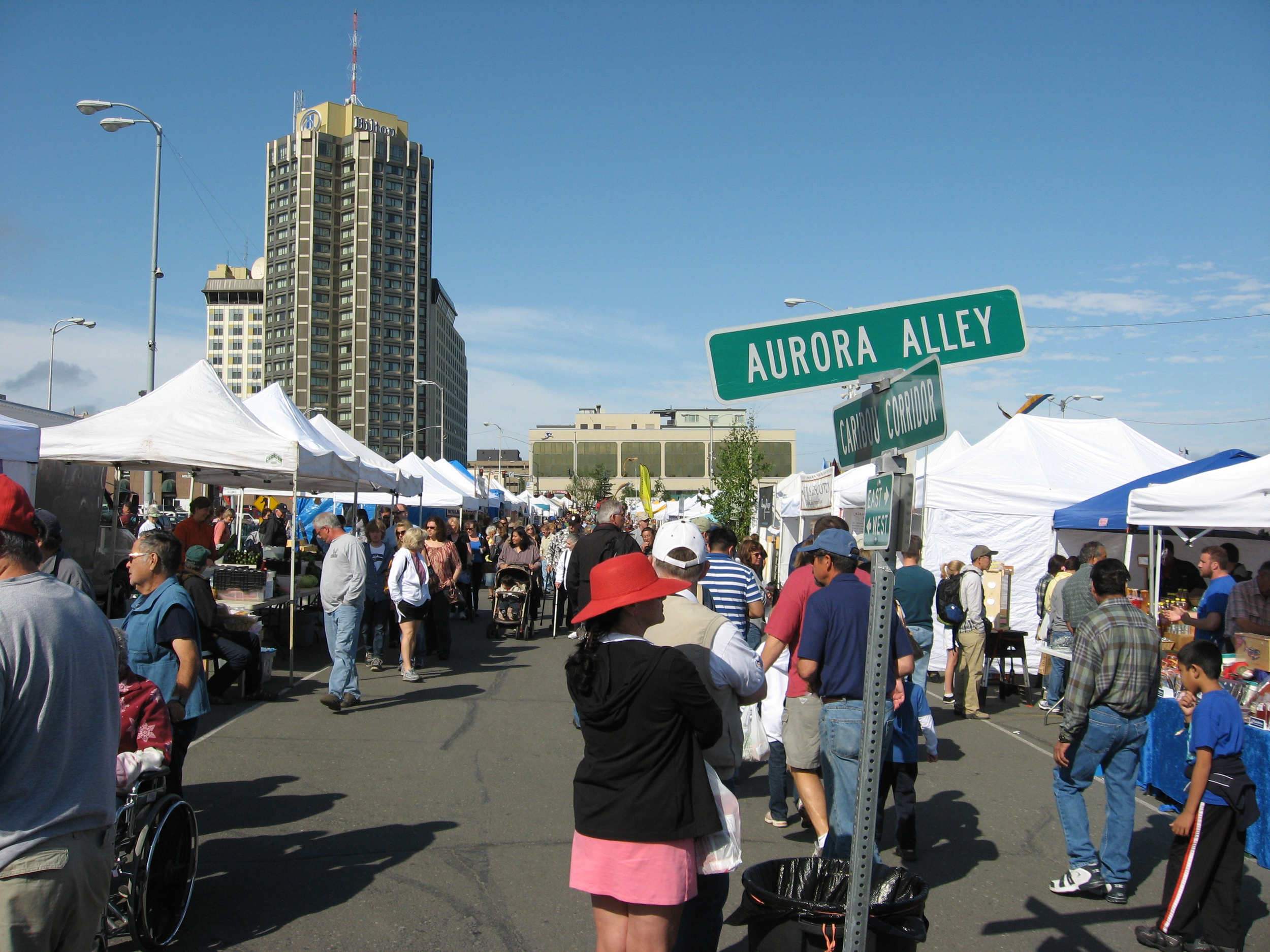 Anchorage has a wonderful downtown outdoor market that is not to be missed - food, crafts and entertainment