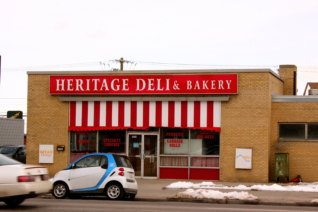 Heritage Deli & Bakery is another example of the diversity of shops in the Killarney area.  All good urban villages have a signature deli and bakery.