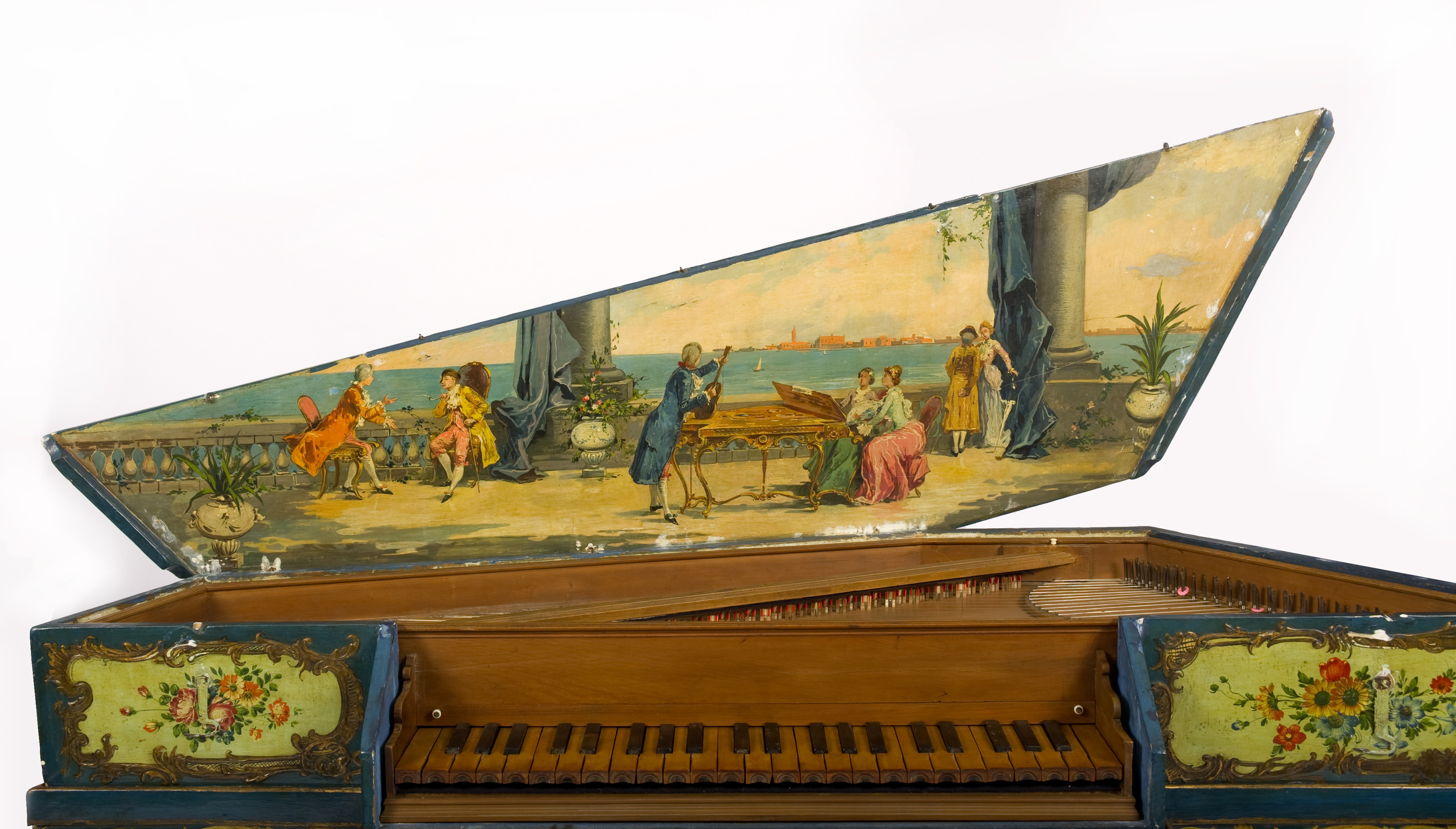The National Music Centre's oldest keyboard instrument a Virginal from 1560 - it predates the piano.  photo courtesy of the National Music Centre.