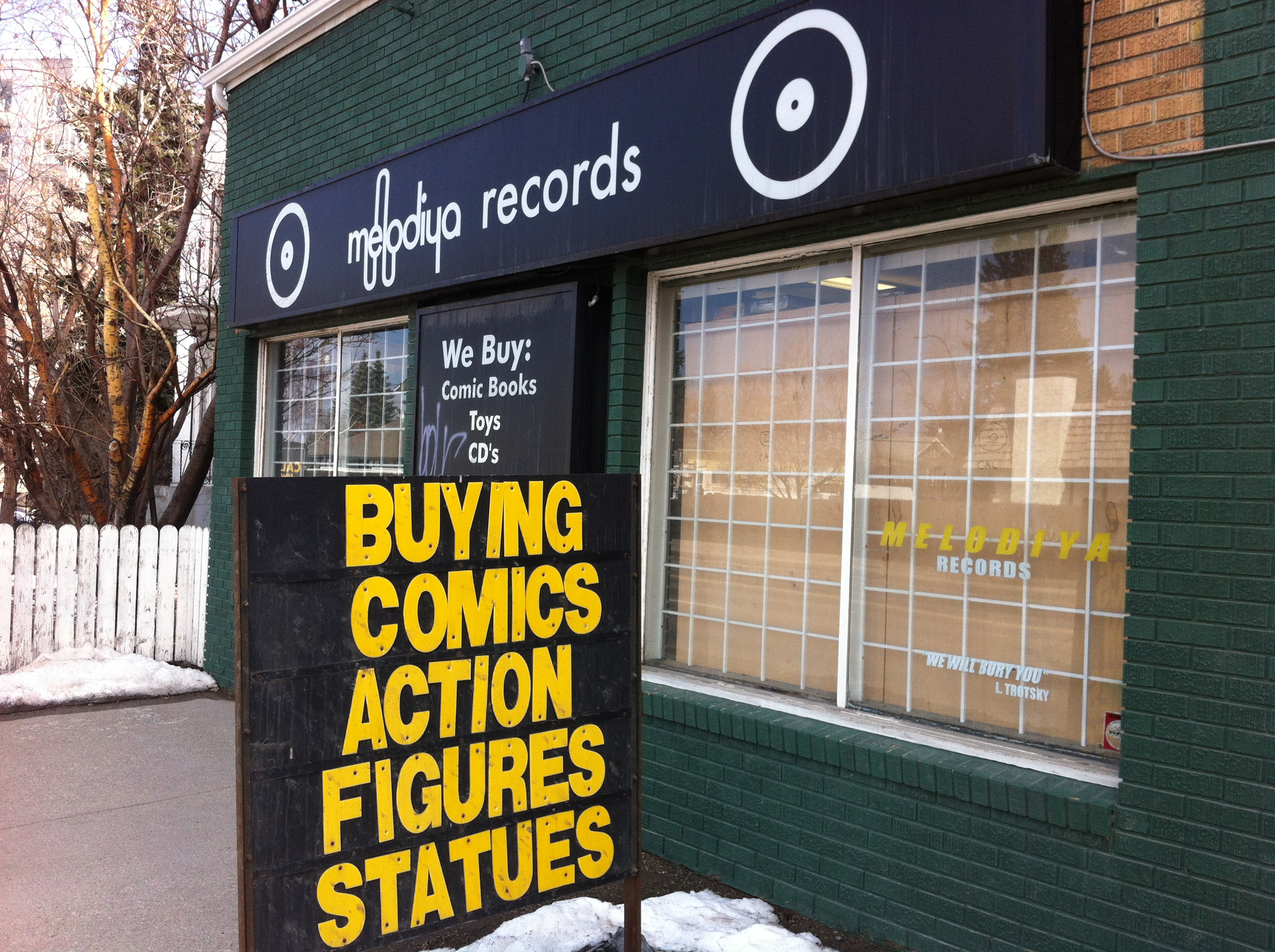 Comics, Action Figures and Records it does't get any better than that.