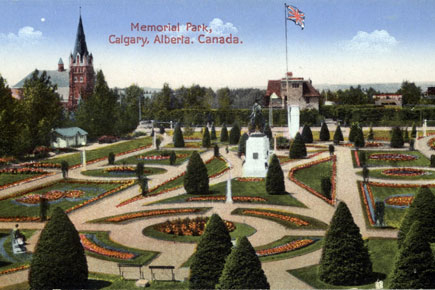 Memorial / Central Park early 20th century postcard.  Park has been updated but still looks very much like this today.