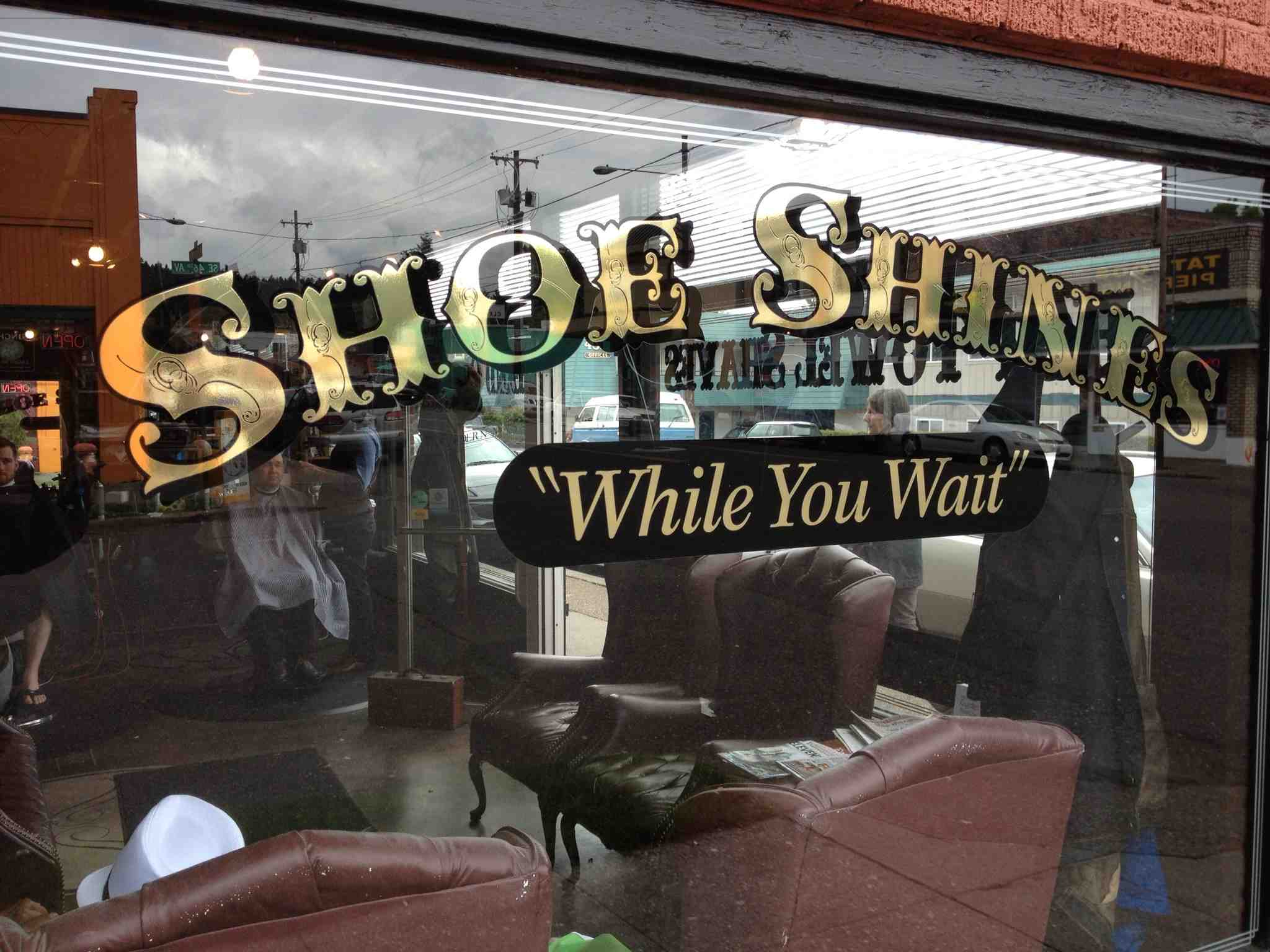 """While the sign says """"shoe shine"""" the store really is a barber shop. Portland has lots of the '50s and '60s barbershops with a modern twist. I can see this becoming a trend in other cities in North America."""