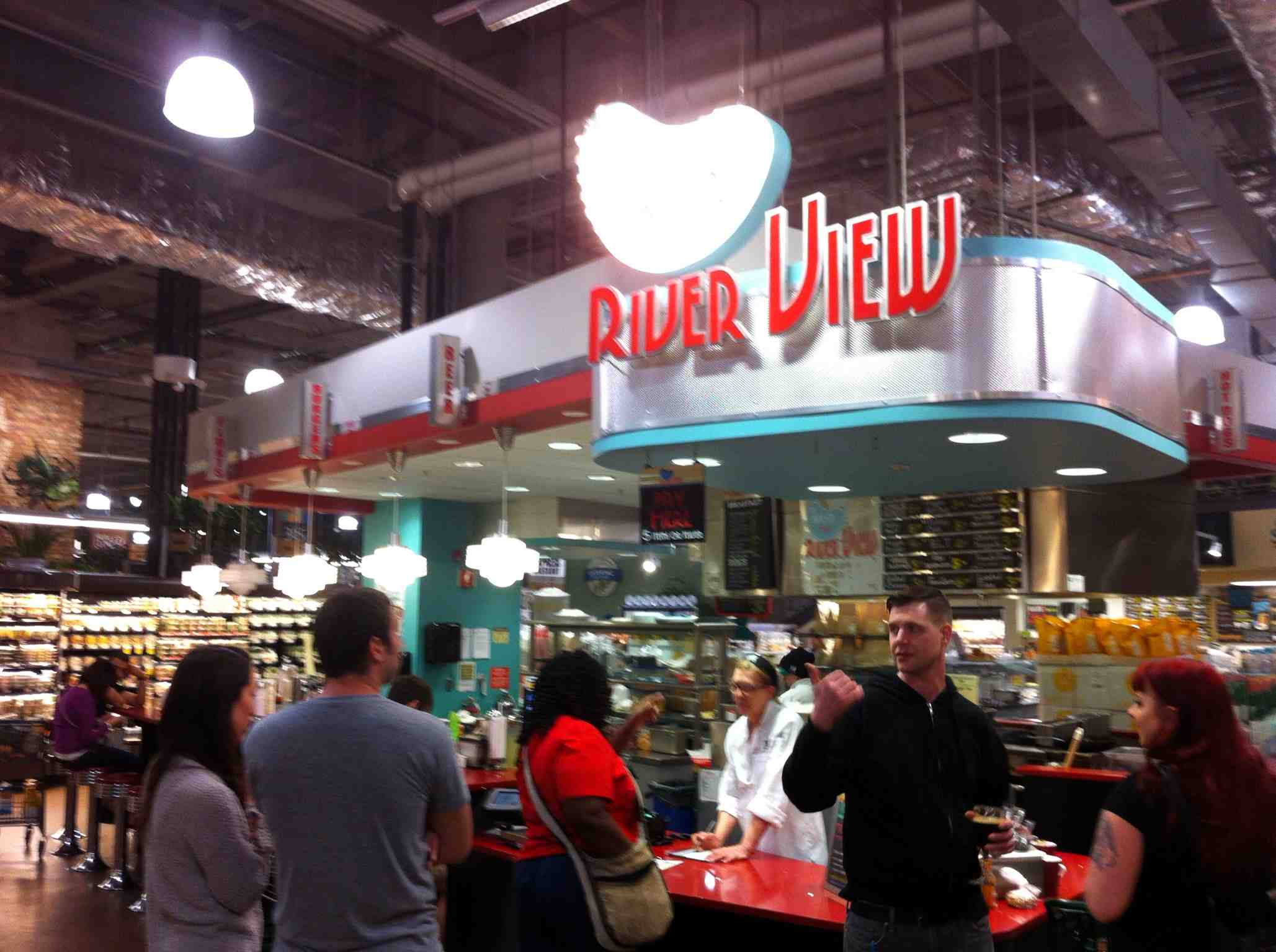I found out this is the second largest Whole Foods in the chain.  It has several themed restaurants in the store including this '50s style diner.