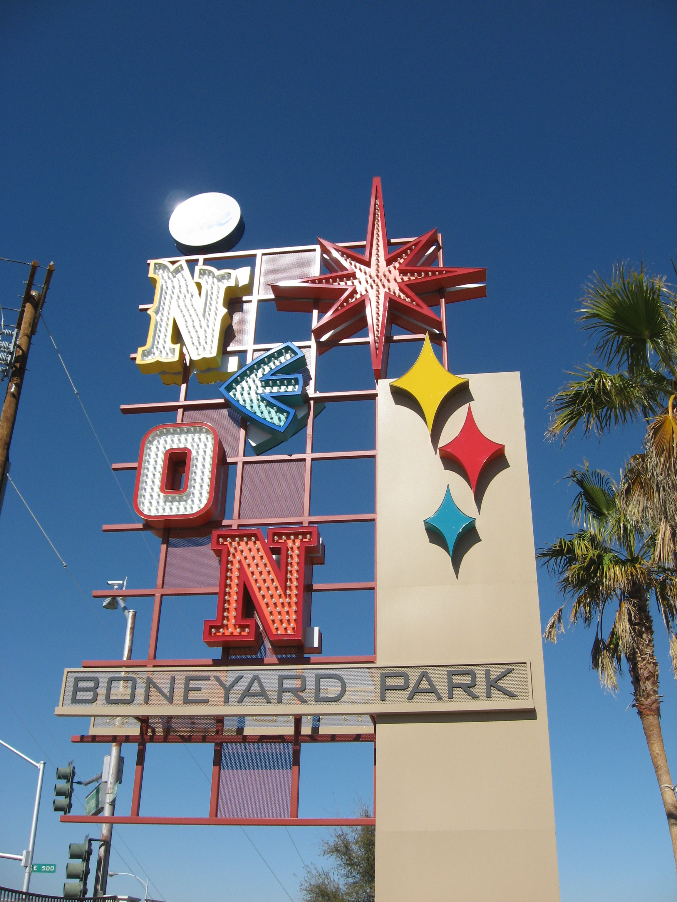 In my mind, the Boneyard Park is a must see Las Vegas attraction, way more interesting than The Strip.  It is much more authentic and offers an up close and personal look at one of the iconic artifacts of urban design - the neon sign.