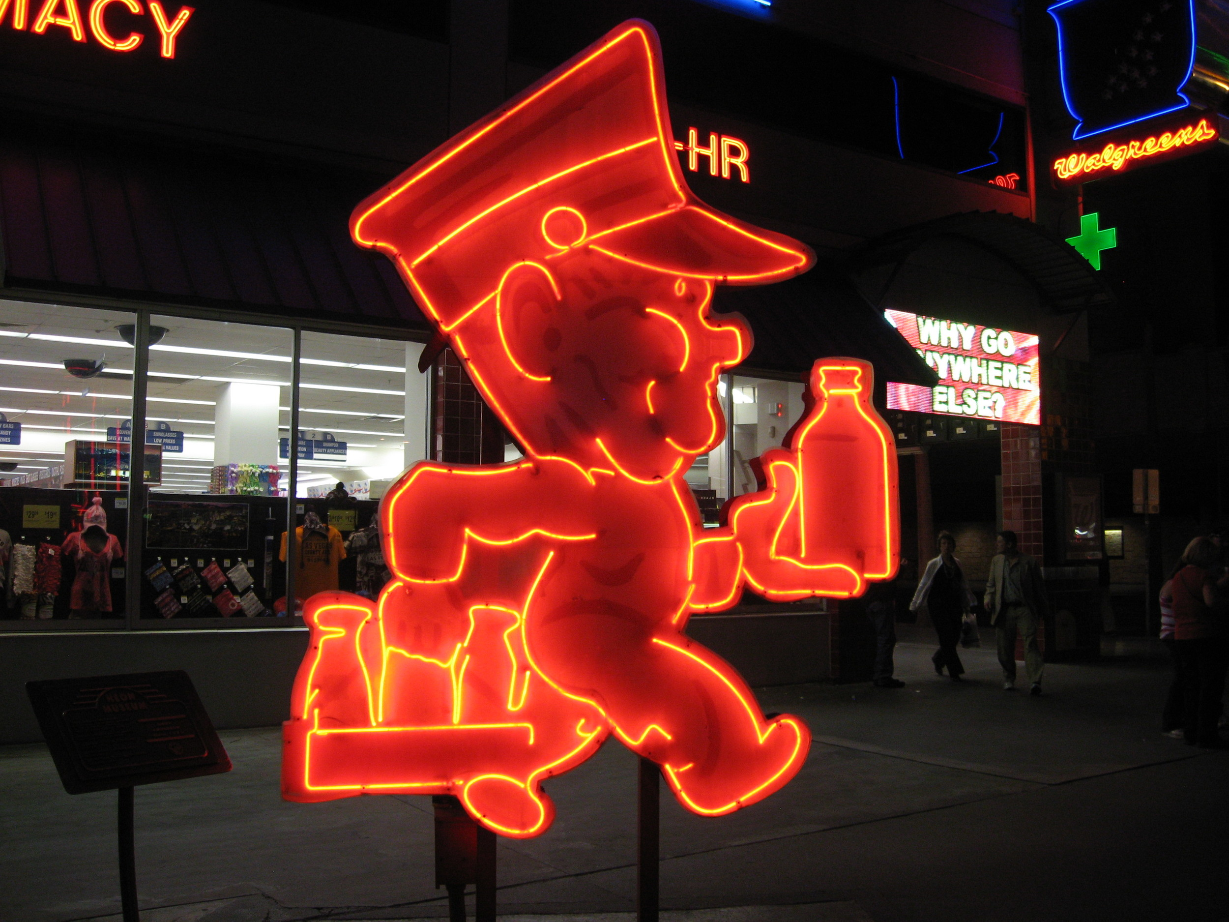 Love the link between cartoons and neon characters.