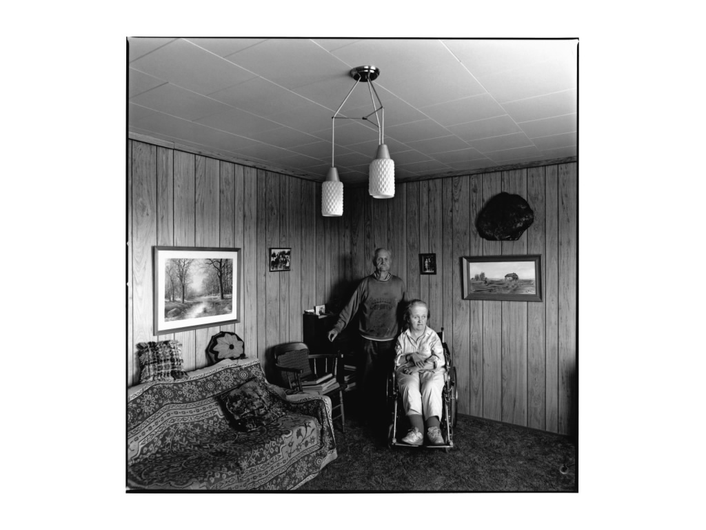 Thorvald Skaalid and daughter Margaret Ann, Macrorie, Saskatchewan, 1993