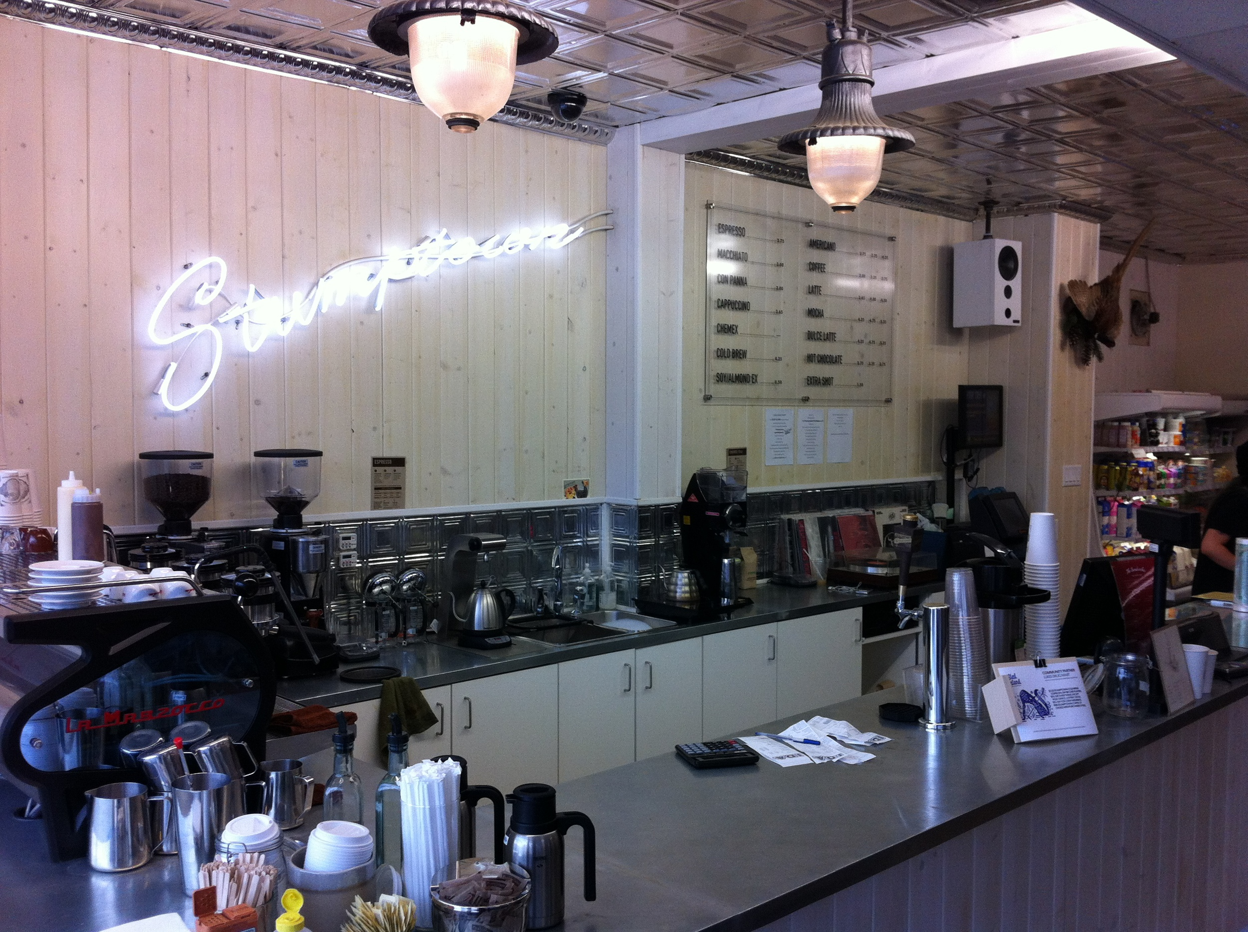 Portland's Stumptown coffee now available in Calgary. Wonder when Phil & Sebastians will open in Portland or maybe Cafe Rosso or one of the many other Calgary based cafes / roasters.