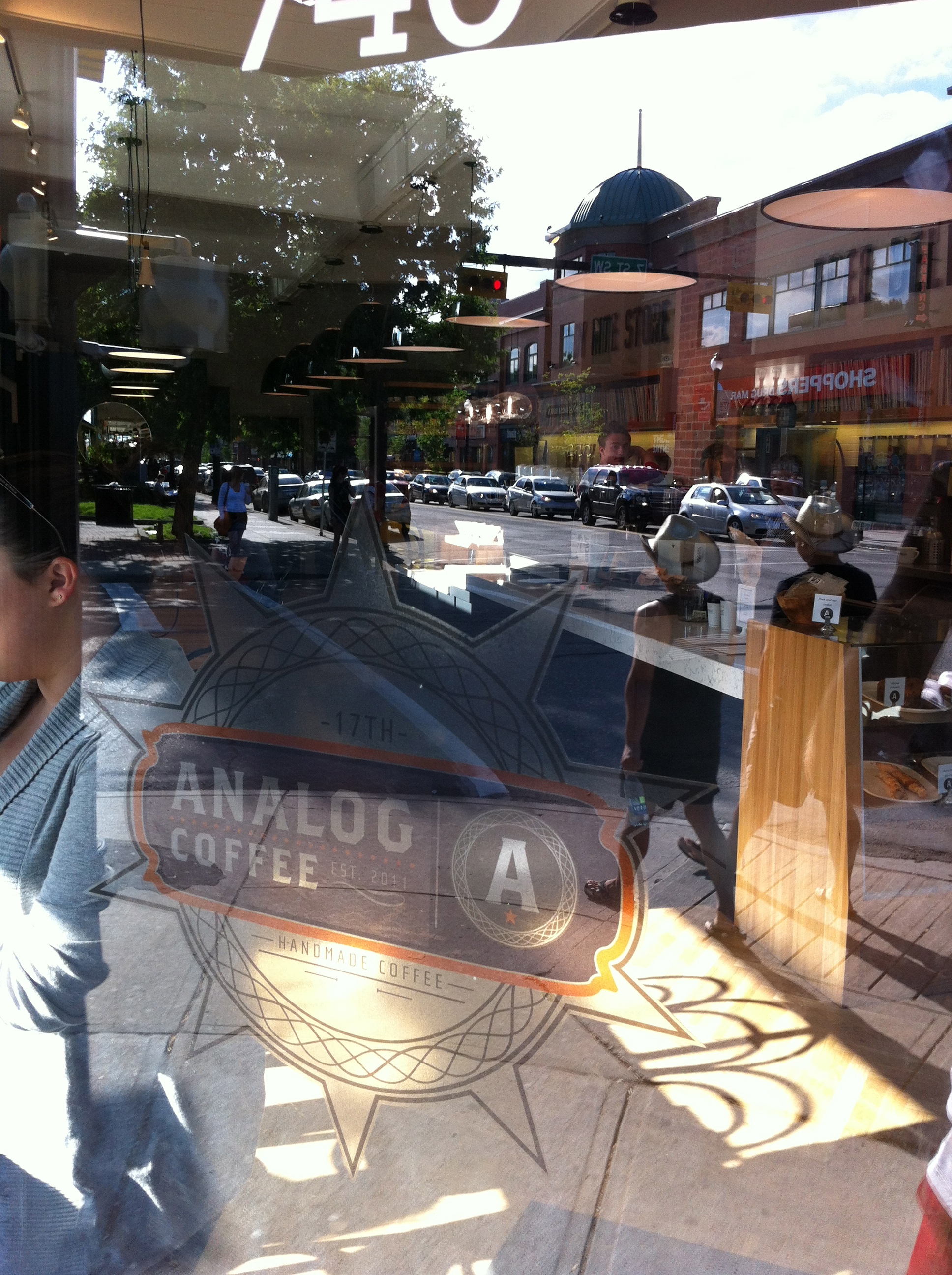 Analog Coffee has great windows both from the inside and the outside.
