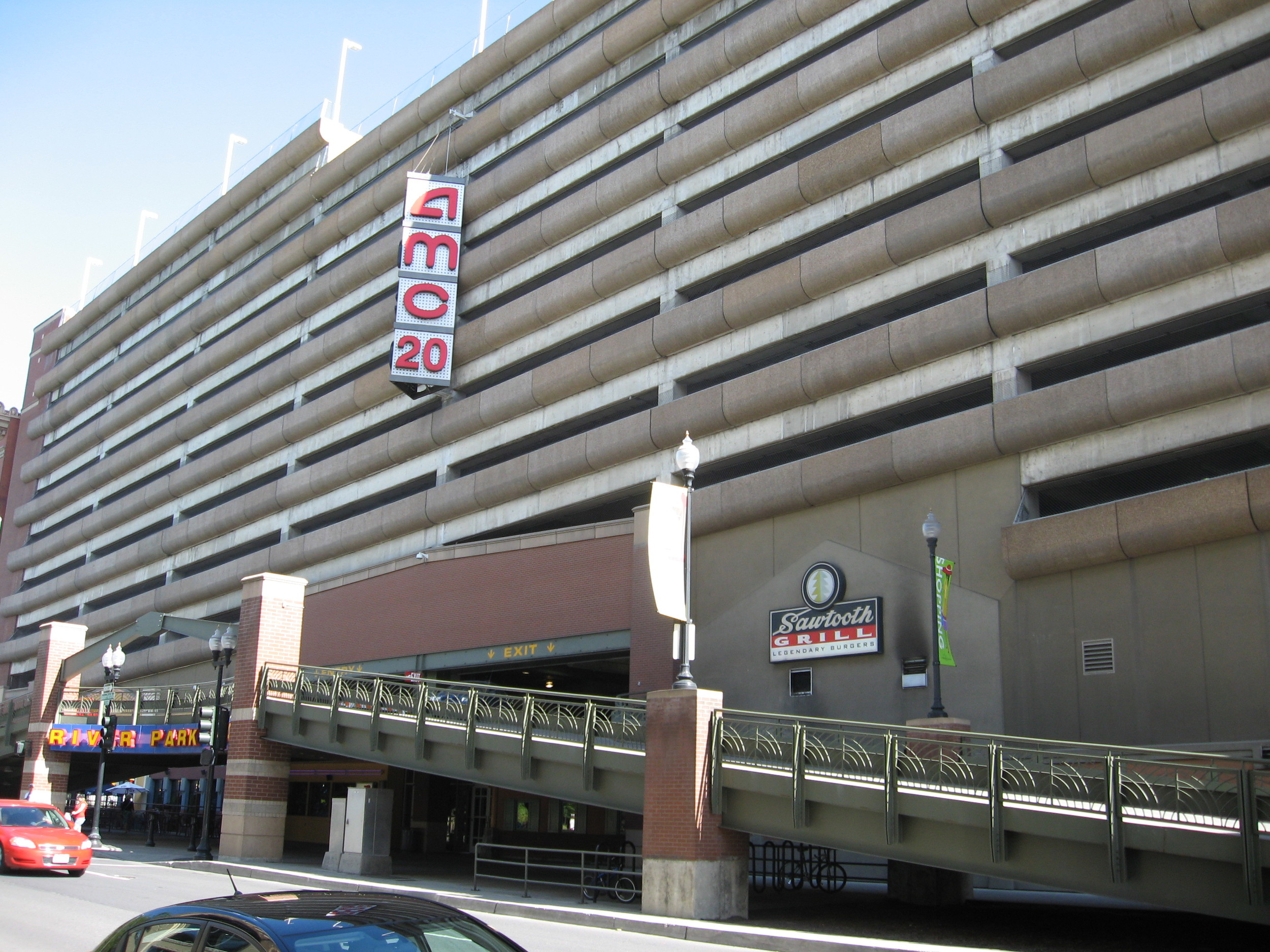 The parkade attached to River Front Square while newer, has none of the charm and character of The Parkade.