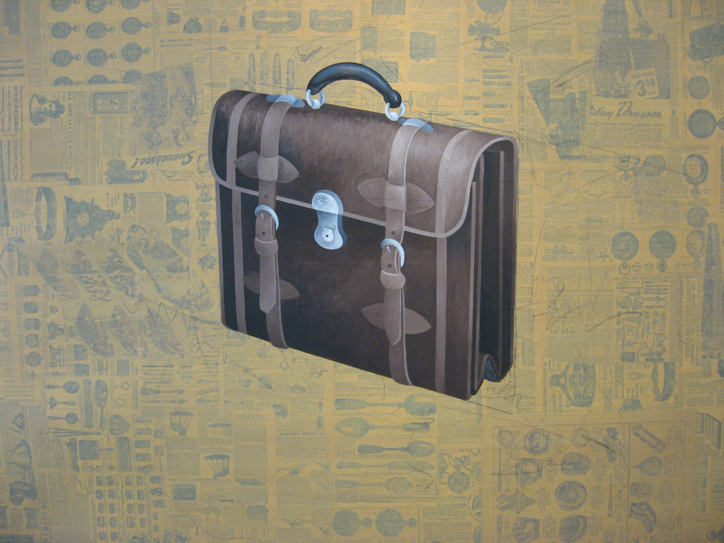 The briefcase was the companion piece to the hat.