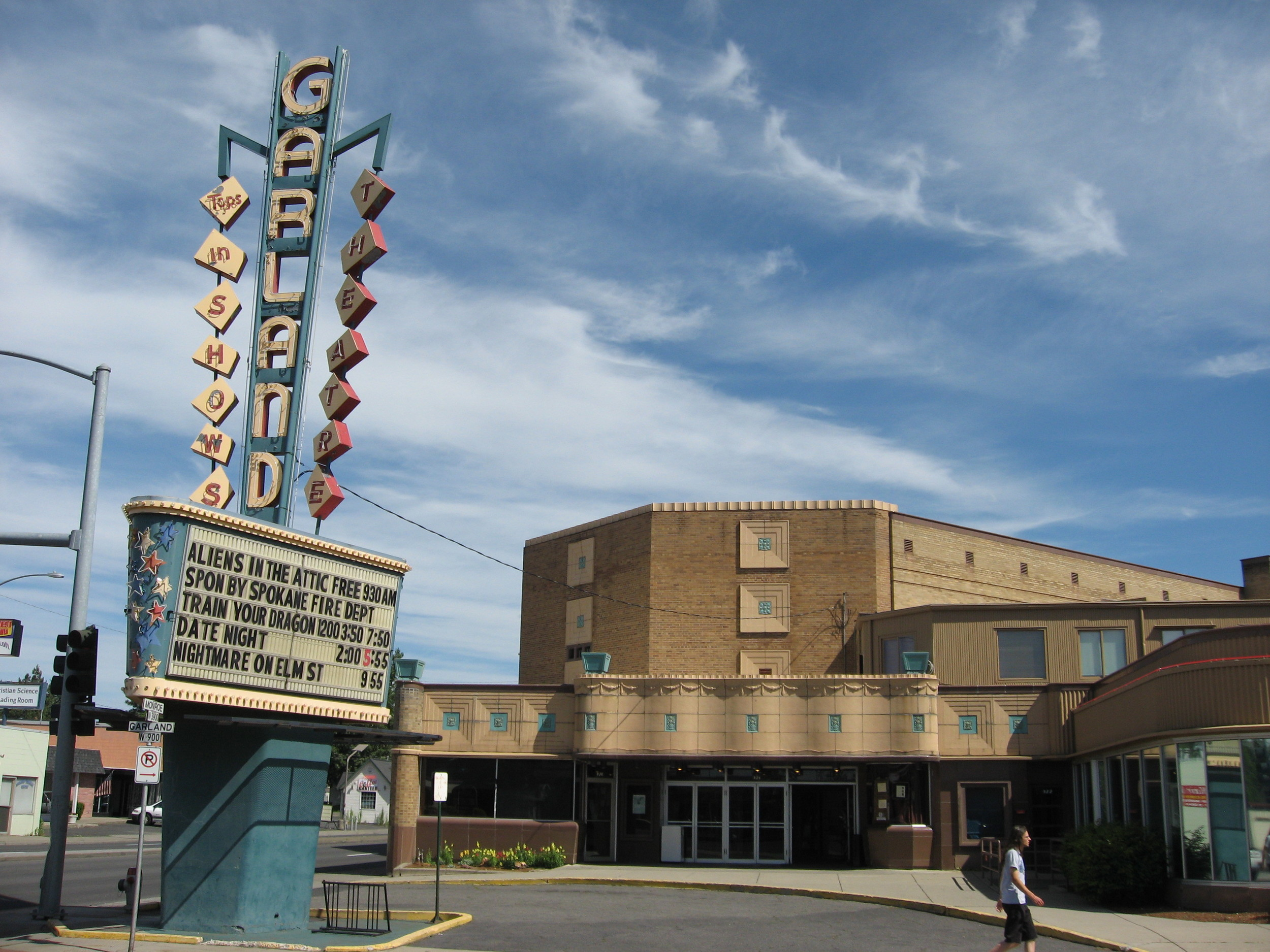 The art deco Garland Theatre is the anchor for this charming arts district.