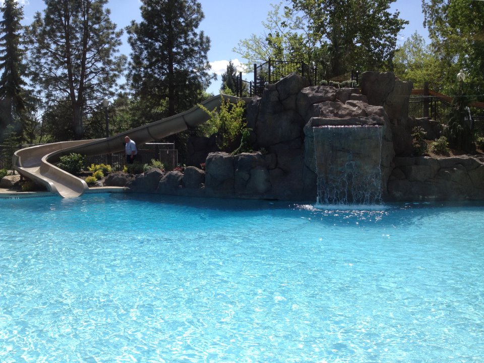 The pool at the Red Lion at the Park in Spokane.