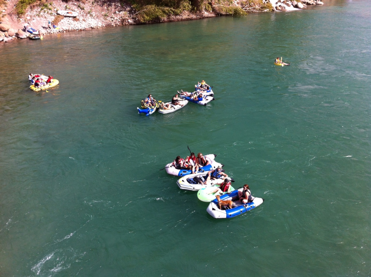 Rafting along the Bow River has become a very popular summer activity for Calgarians and tourists. On a hot summer day hundreds maybe thousands of rafters enjoy one of the world's great urban rivers.