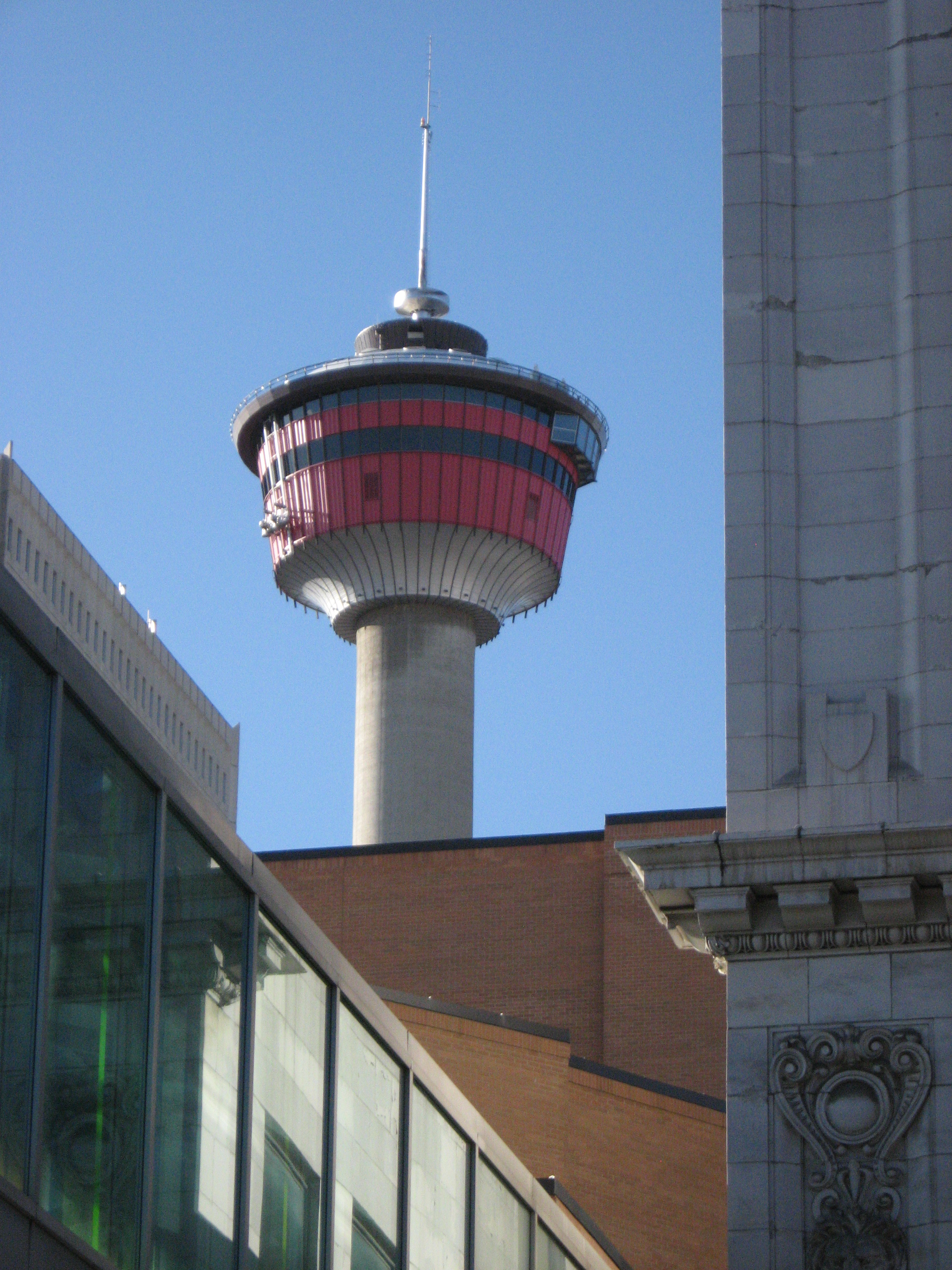 The Calgary Tower no longer dominates the skyline. more often than not it looks more like a UFO amongst the numerous office towers.