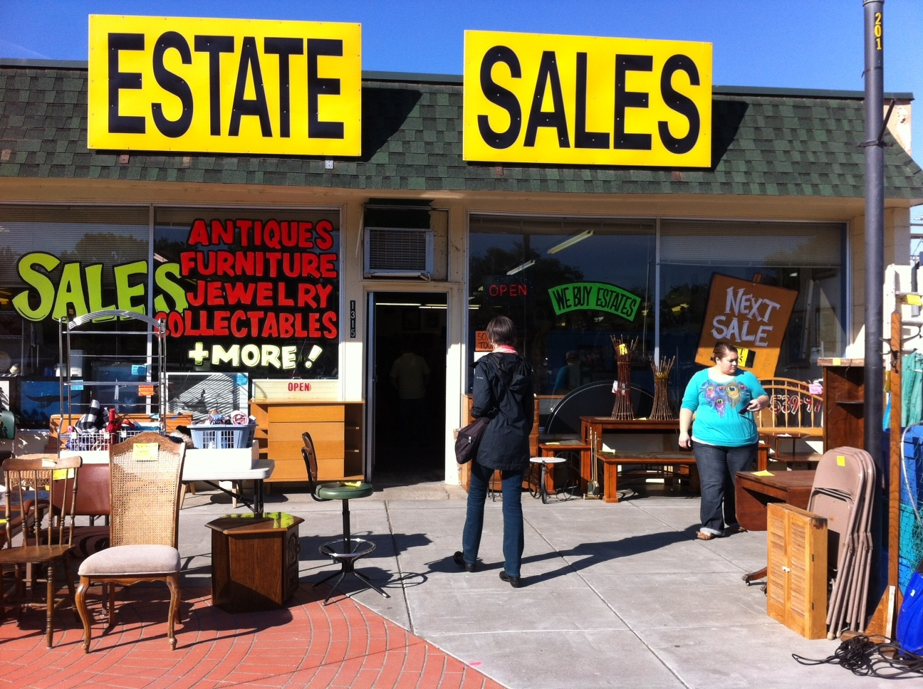 "No sooner had we left Becky's when we were at the Estate Sale.  While the Uptown Plaza doesn't have the upscale traditional tourist shops, it is a ""treasure hunters"" mecca."