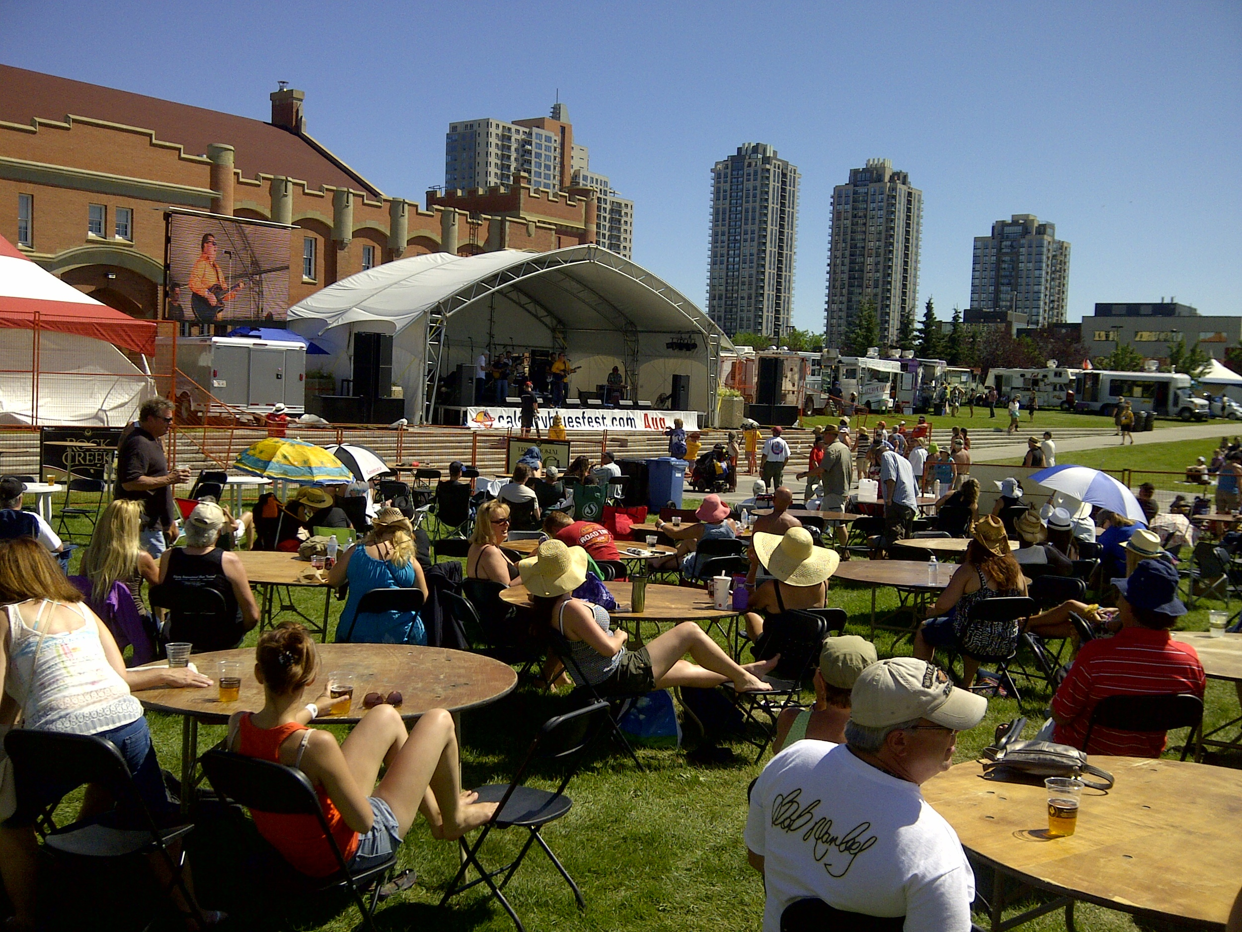 This is the 2012 Blues Festival in Shaw Millennium Park. Today Calgary offers one of the most comprehensive festival schedules of any city of its size in North America.