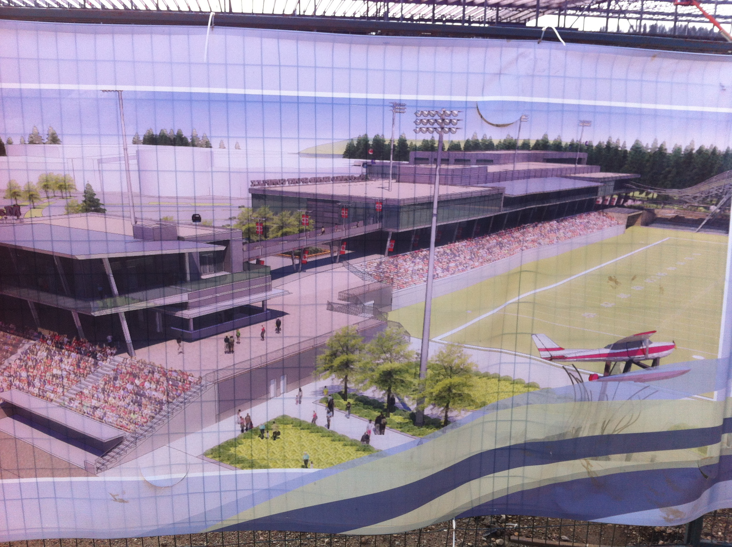 This is the SMS Stadium and field house that will have 5,000 permanent seats, with the ability to expand to 20,000 seats. It will host major sporting events, festivals, concerts and even grass root events. It will be completed by 2015 in time for the Edmonton Saskatchewan CFL pre-season game and the 2015 Western Canada Summer Games.