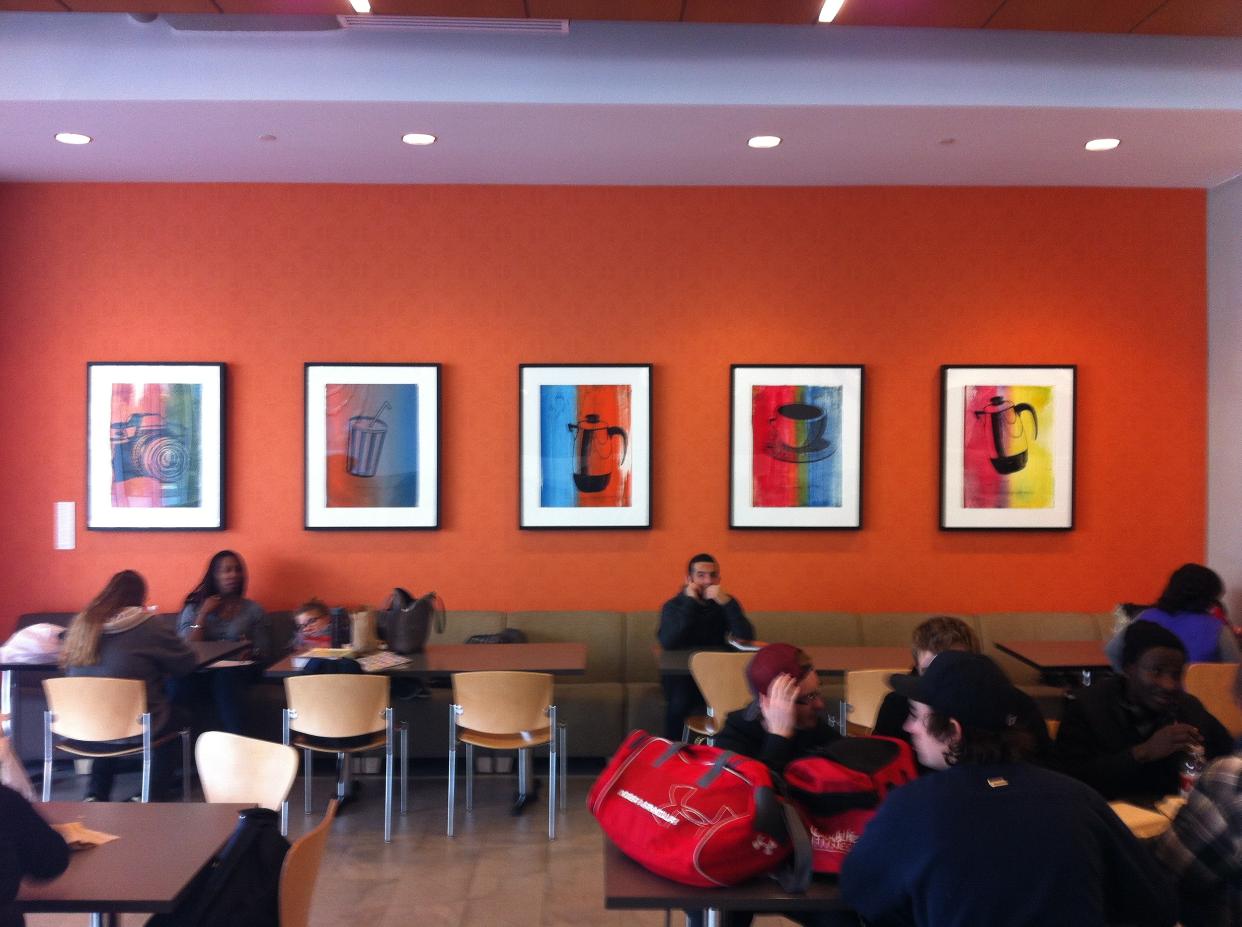 BVC students are surrounded by contemporary art where ever they go.