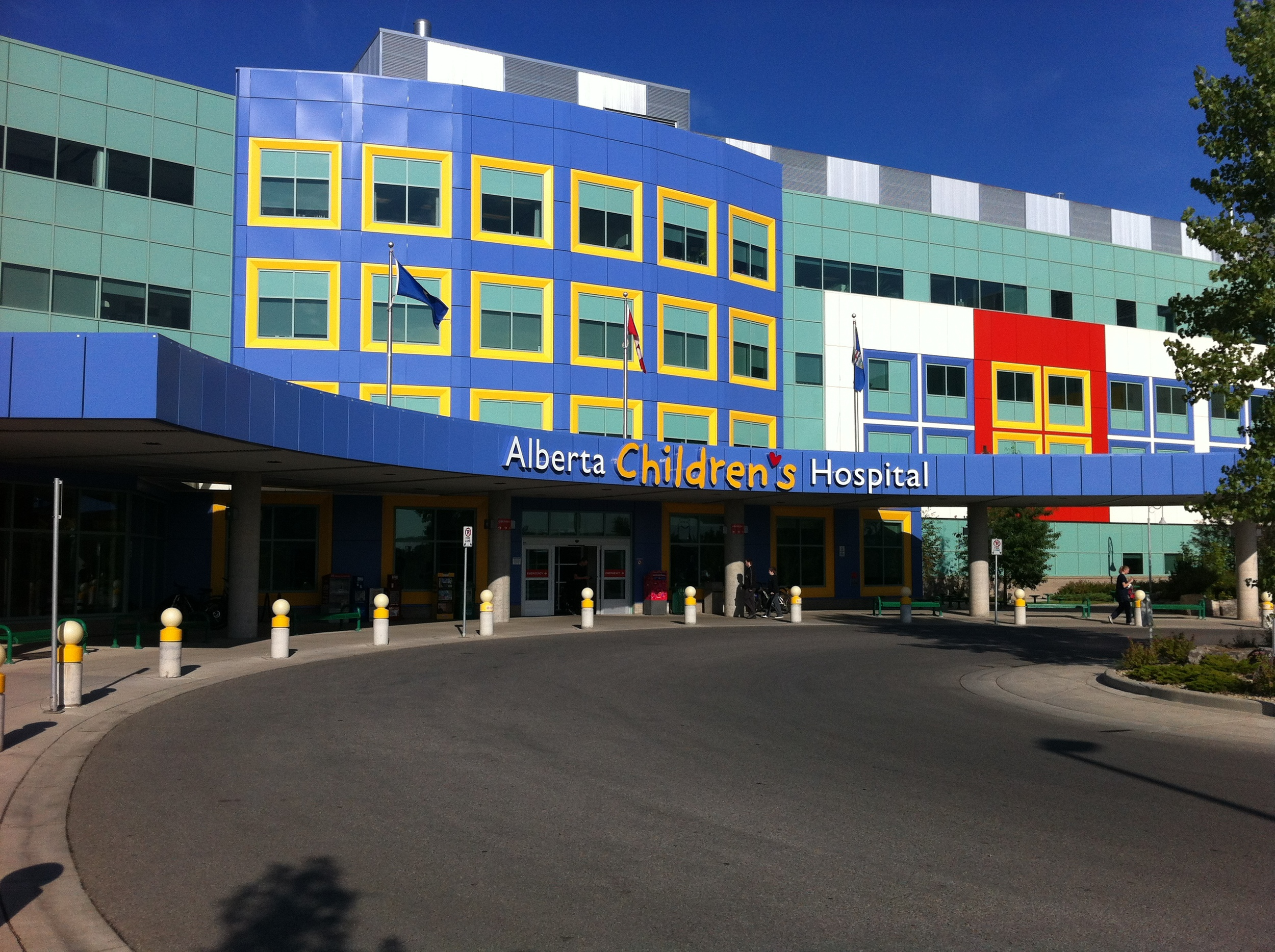 It is not coincidence that theAlberta Children's Hospital looks like it was constructed with lego. A youth advisory group provide the design team with ideas about what the hospital should look like - big windows and bright colours were two of the suggestions. The building is both fun and welcoming, something every building should be.