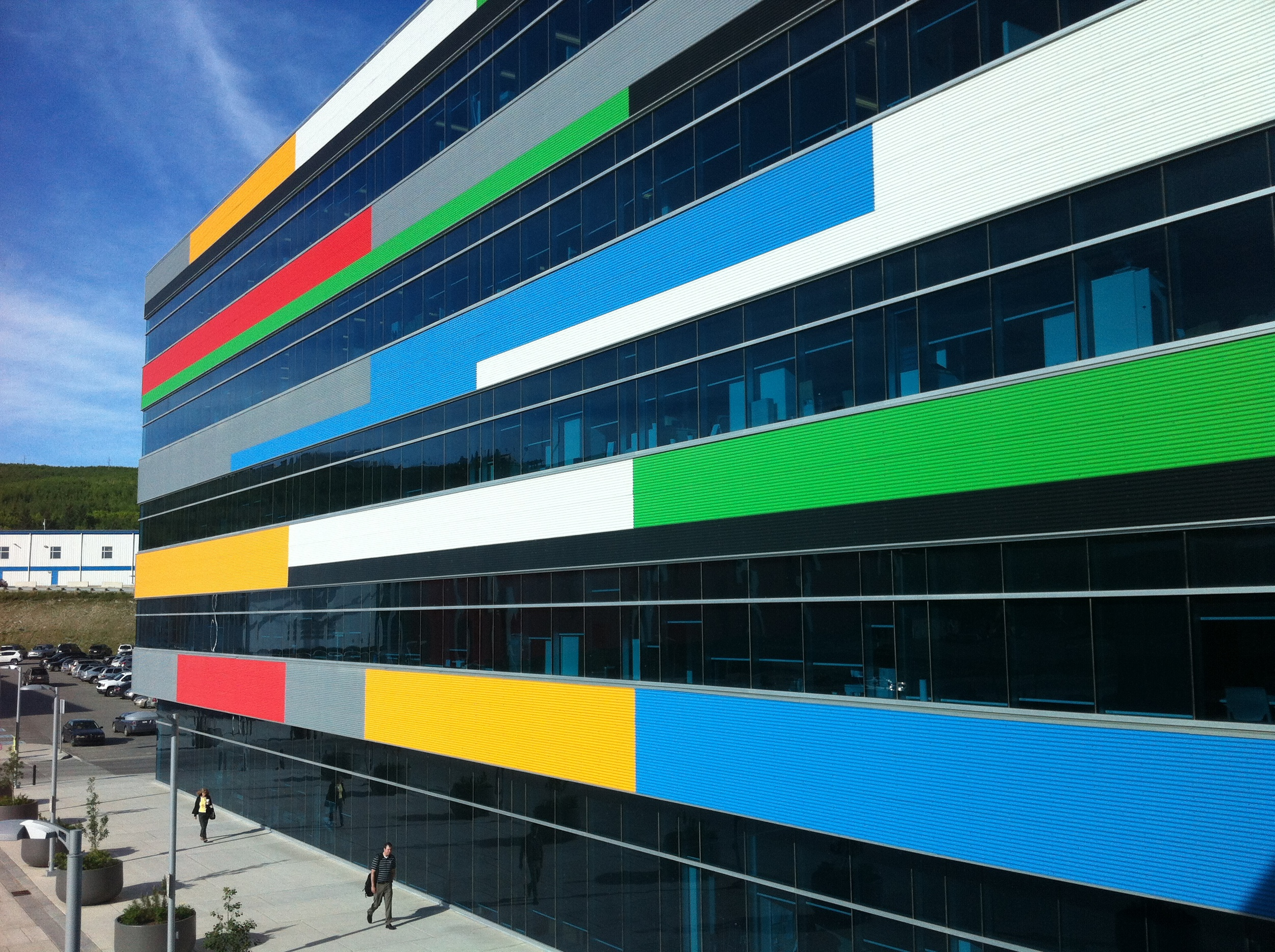 Some of Calgary's most colourful and fun architecture is hidden from view, like this office building at Canada Olympic Park.  Imagine if this building was along the 7th Avenue Transit corridor or along 9th Avenue as a gateway into downtown.  This makes a fun statement.