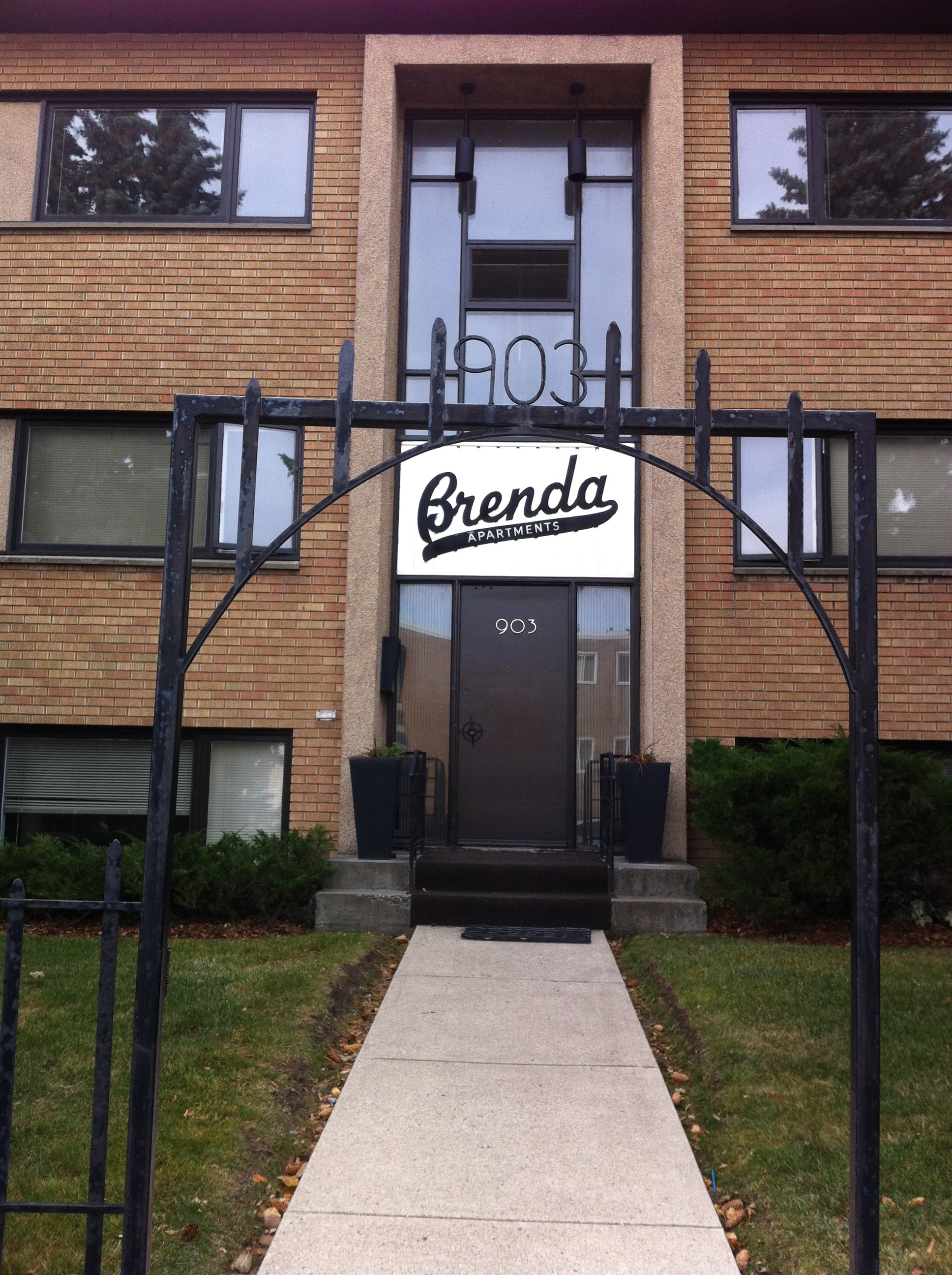 Britannia has numerous small apartment blocks surrounding the plaza to add some density close to the stores and transit. In the '60s this is where seniors would retire to.