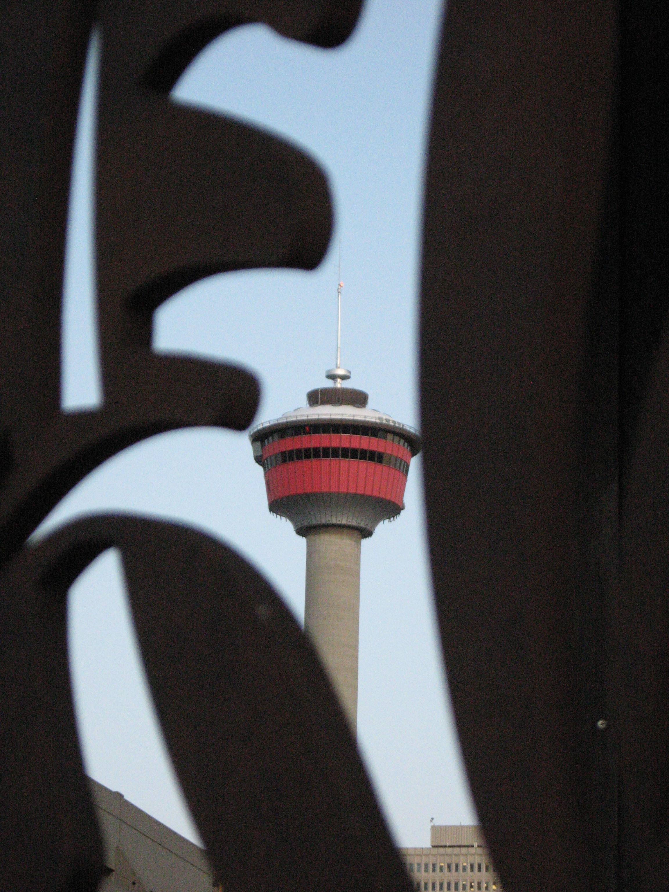This is an image of the Calgary Tower that I happened upon when flaneuring 10th Avenue several years ago.