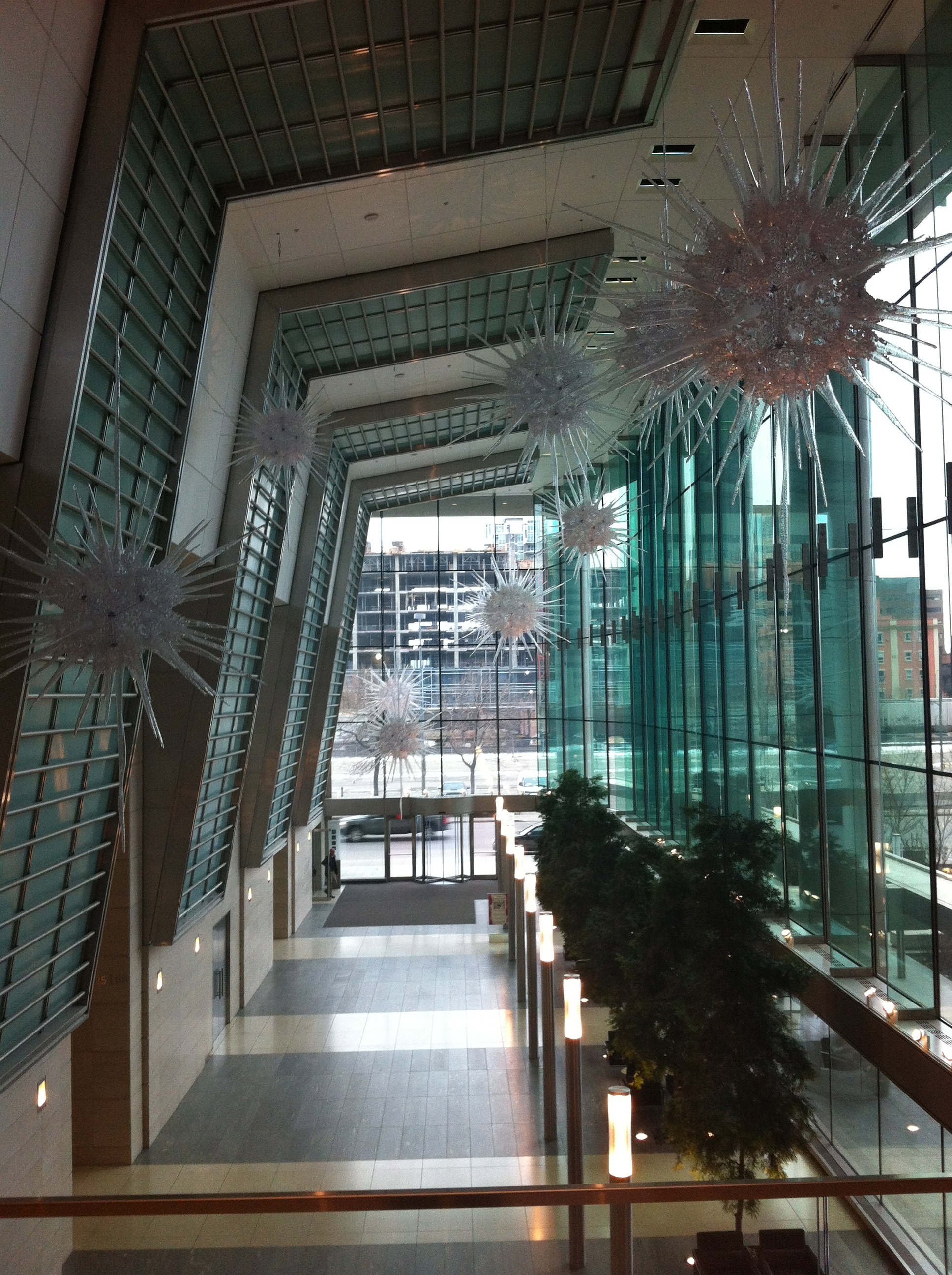 EAP's has one of the most dramatic office lobbies in Canada, perhaps North America.