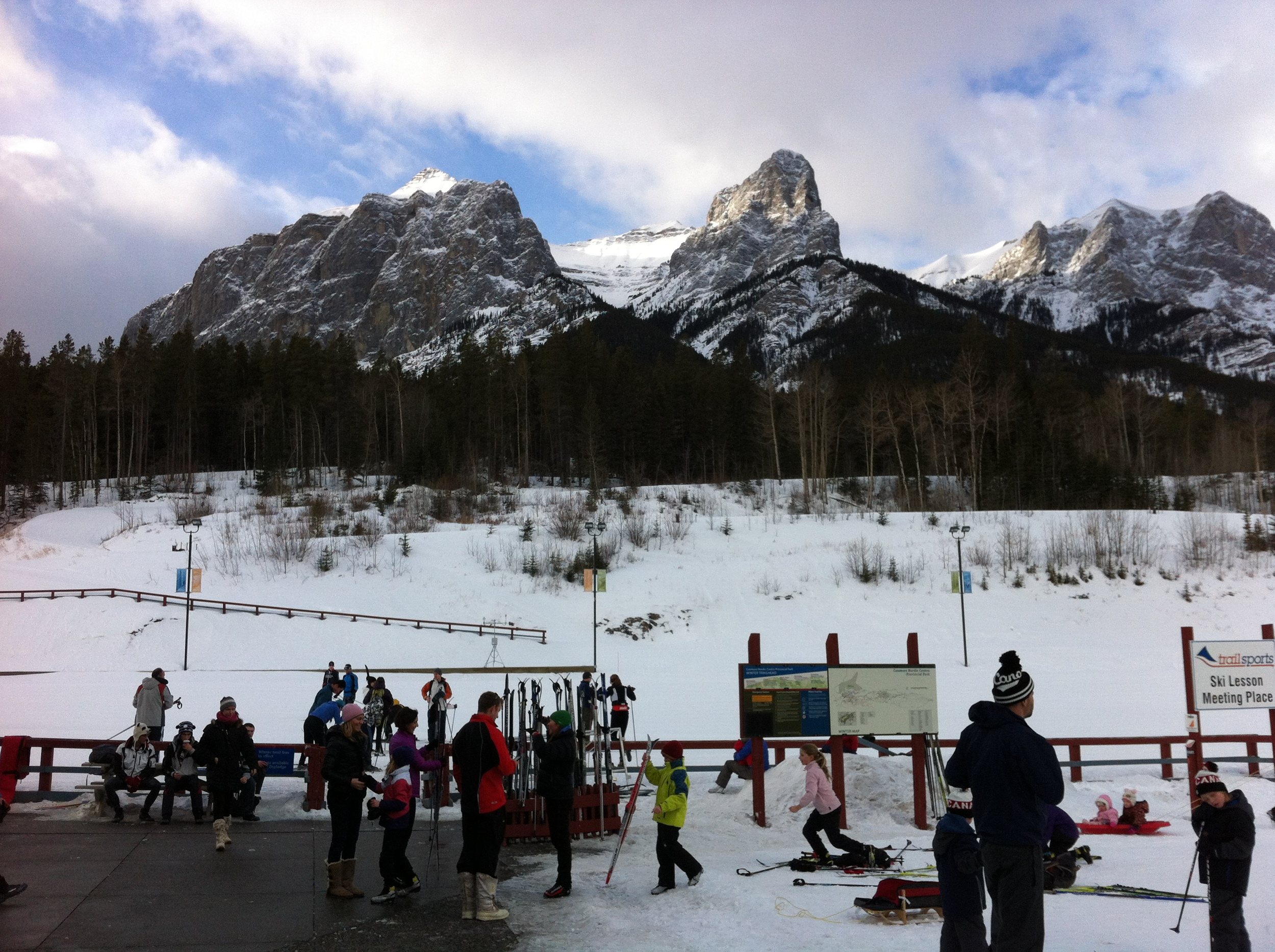 The Canmore Nordic Centre was a winter wonderland for cross country skiers but we were just looking for a place to go for a walk.