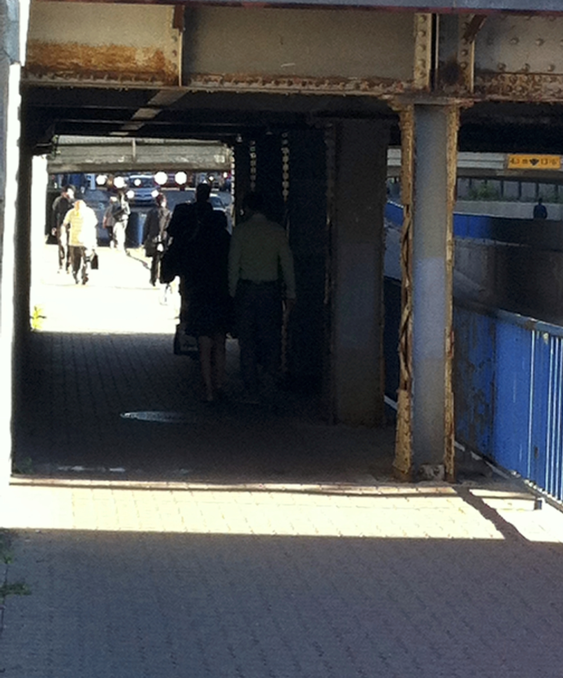 The Eight Street SW underpass has the highest number of pedestrians commuting from the southside into downtown. It will get a mega make-over in 2014.