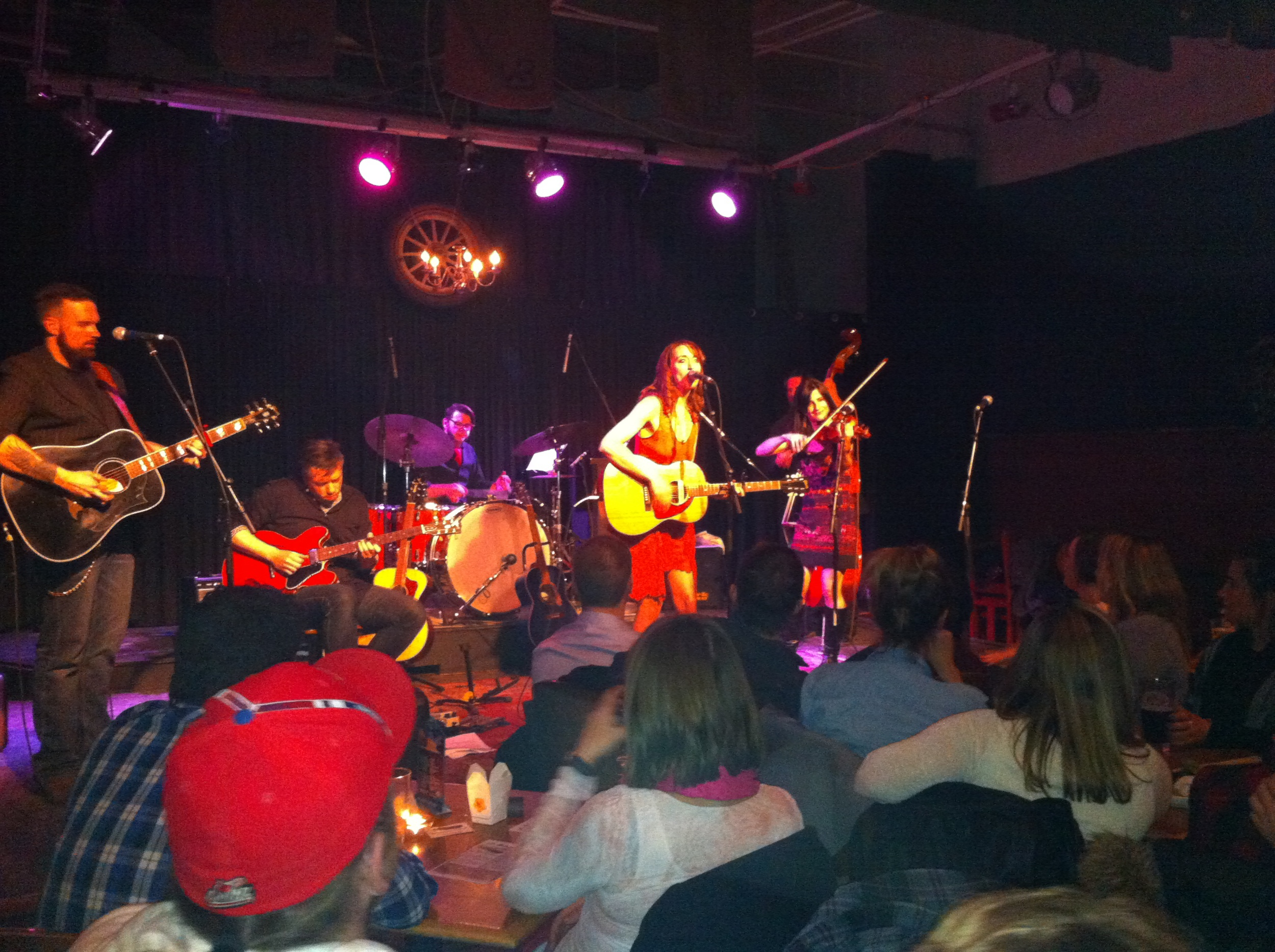 Amy Thiessen and friends at Ironwood. GABEsters love their local music scene.