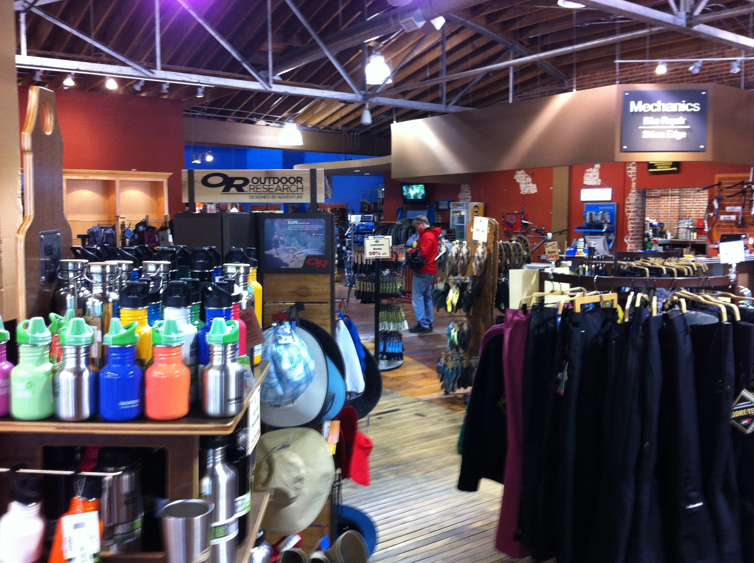 The Idaho Mountain Touring store offers gear and clothing or all seasons, as well as rentals. Boise River is a great place to cycle along or float down!