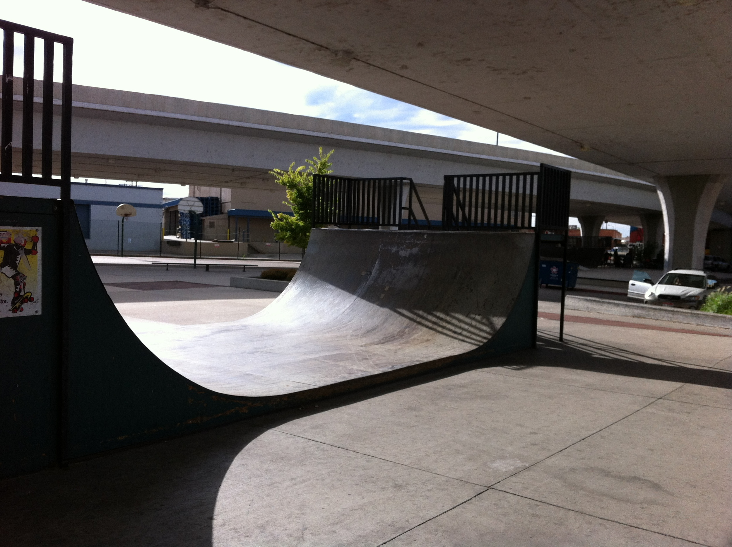 The Boise Skate Park is on the edge of the Linen District. It has a nice edge to it being located under the highway overpass. It as a contemporary sculpture park feel to it.