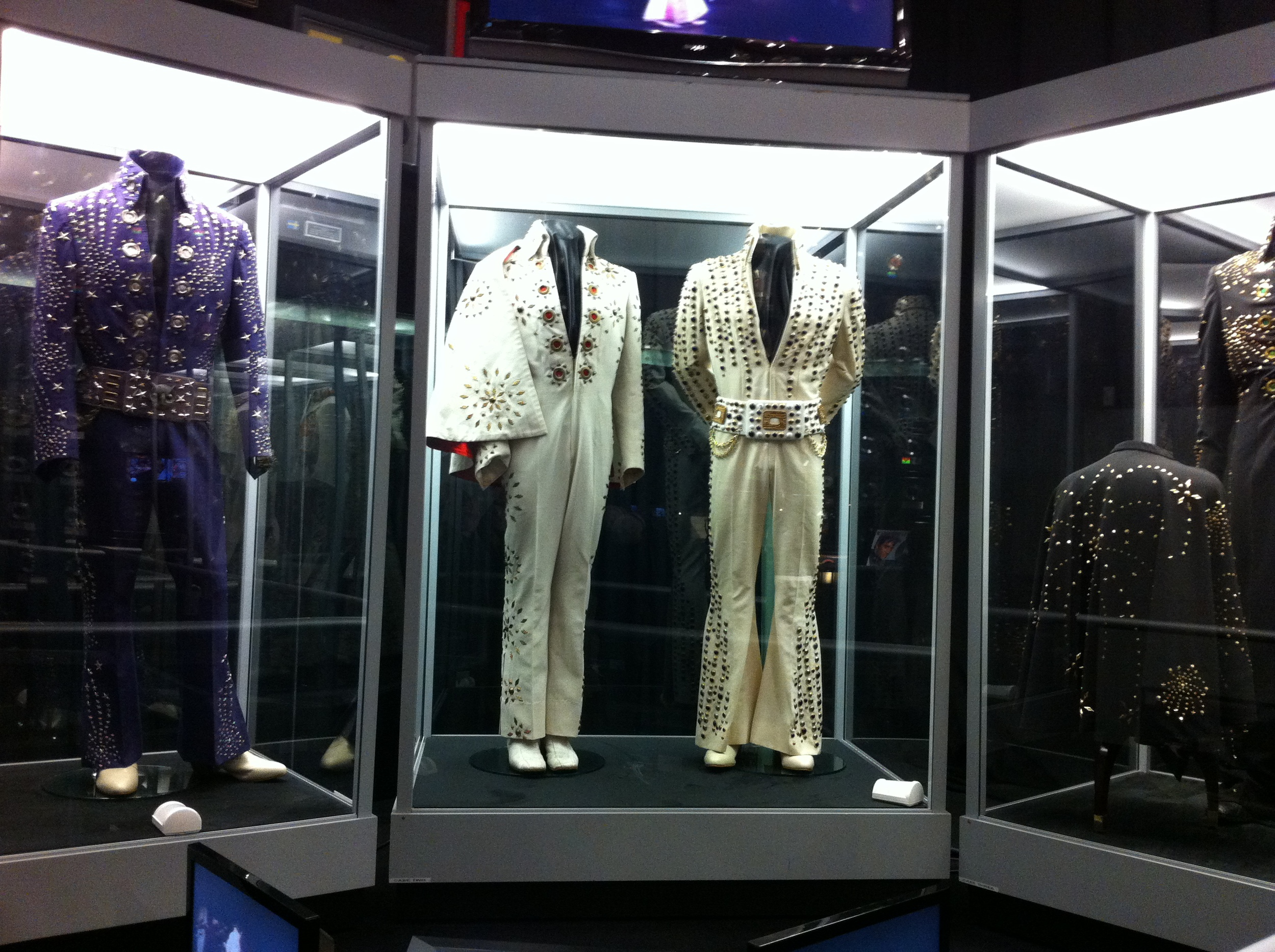 Just a few of the costume displays that you will encounter during your Graceland tour.