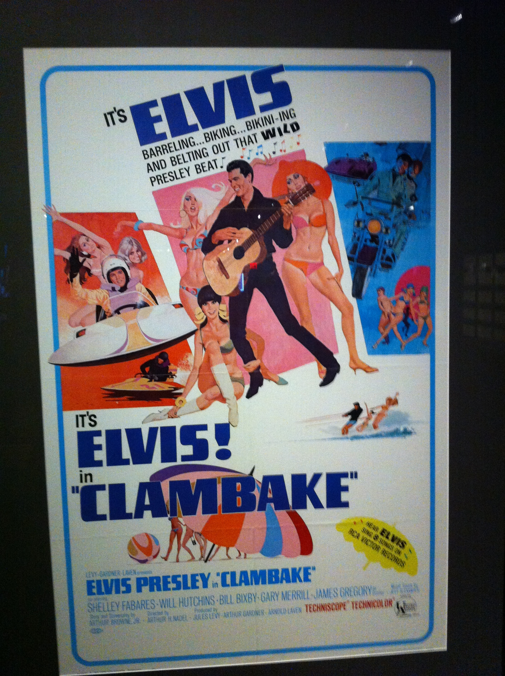 There are lots of movie posters in the Graceland tour.