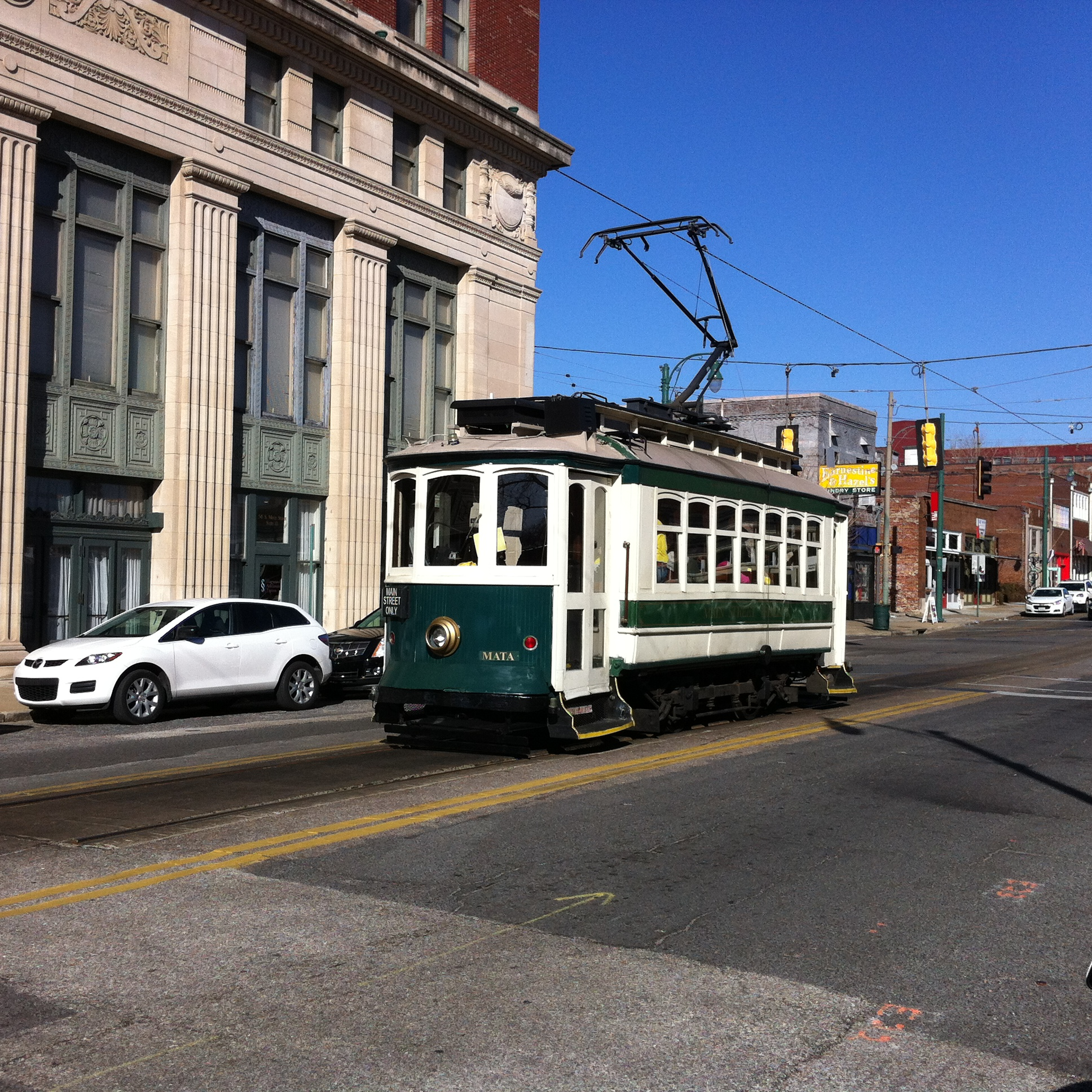 While the trolley cars are cute they aren't too practical when it come to large groups of people wanting a ride after a basketball or baseball game or when there is something on at the convention centre.