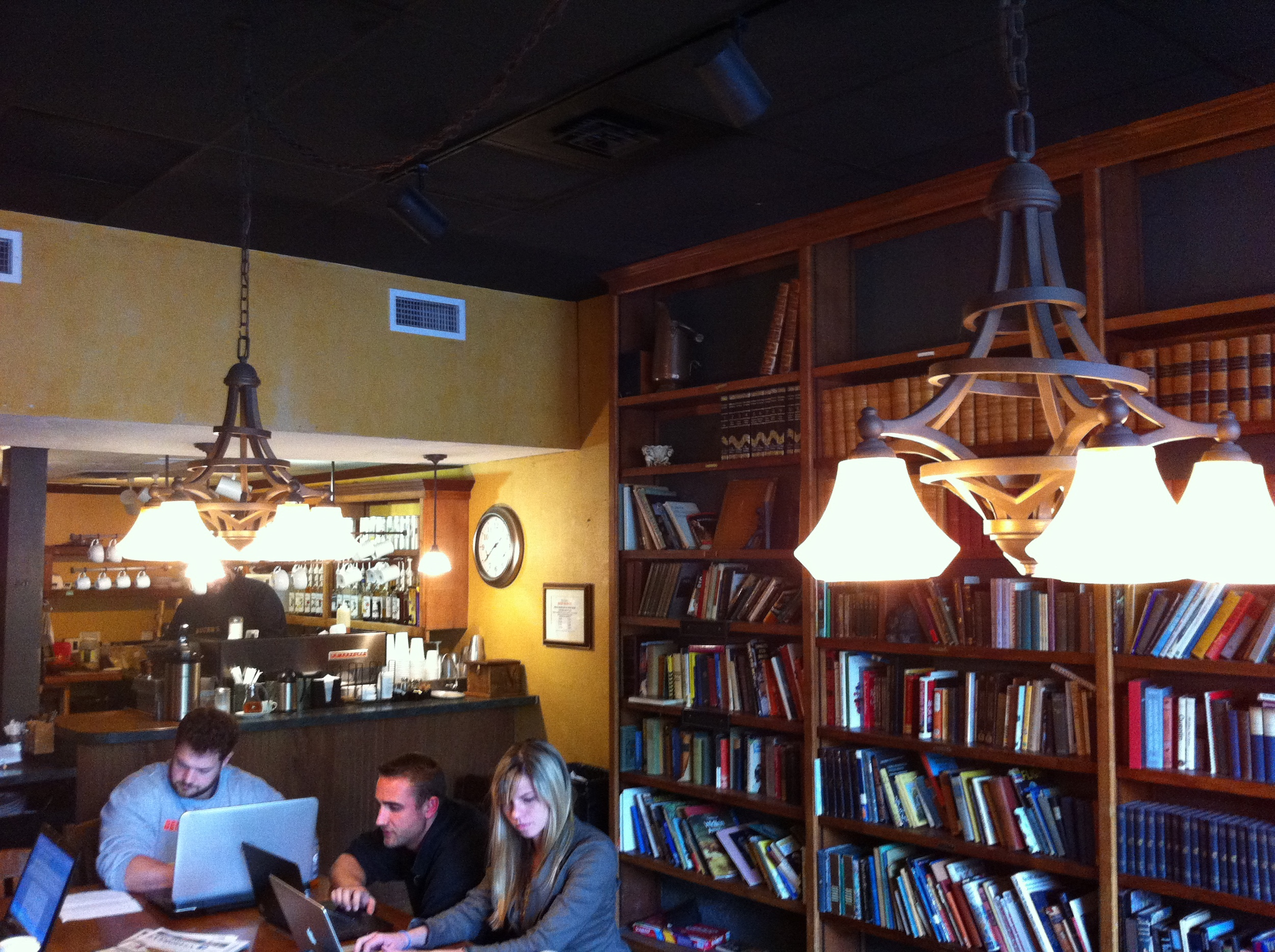 The students loved Bucer's Coffee House and Pub....we did too.  Great ambience .