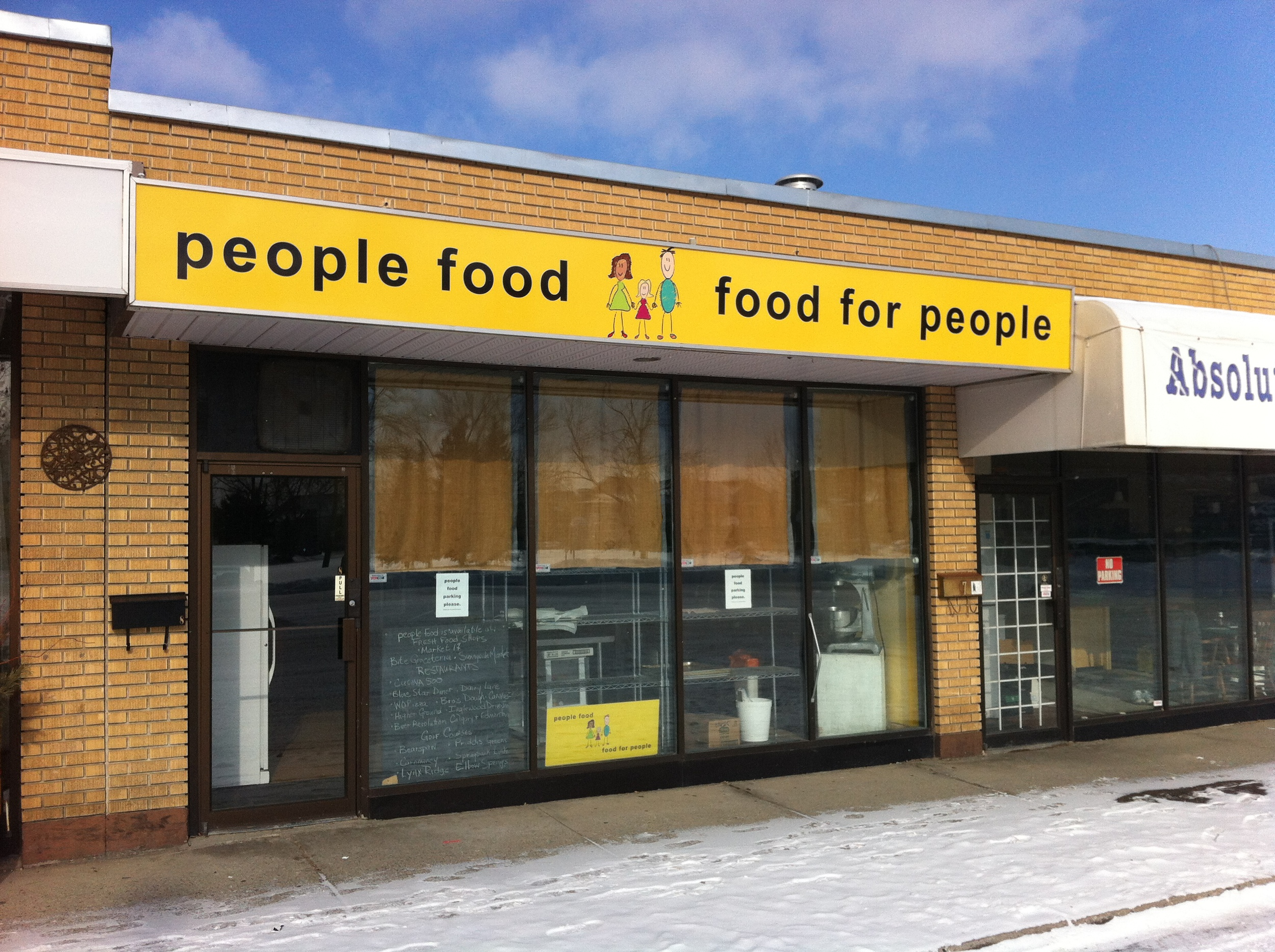 People food kitchen wasn't open when we visited on Saturday and there are no hours, so not sure when or if it is open to the public.  Couldn't find any hours on their website either, but it is a very interesting read and they suggest you call 403-457-1985 to find out what's fresh, and I'd suggest asking when they are open.