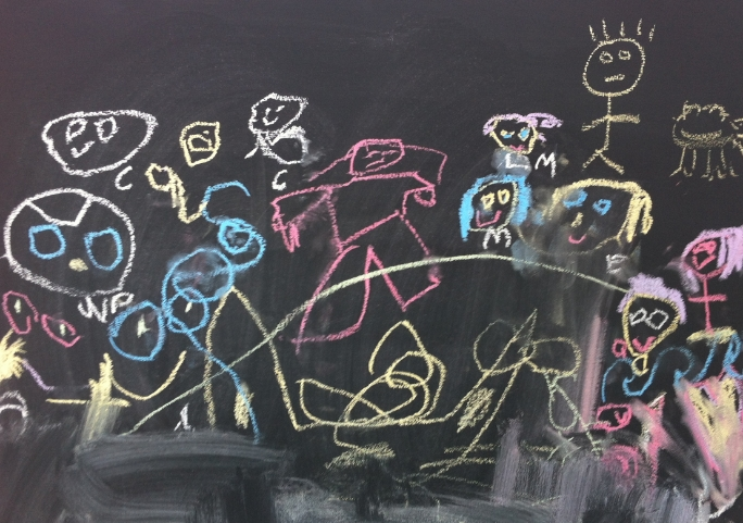 If you have a budding young artist in the family, bring them along, they will love the chalk board. Who doesn't?