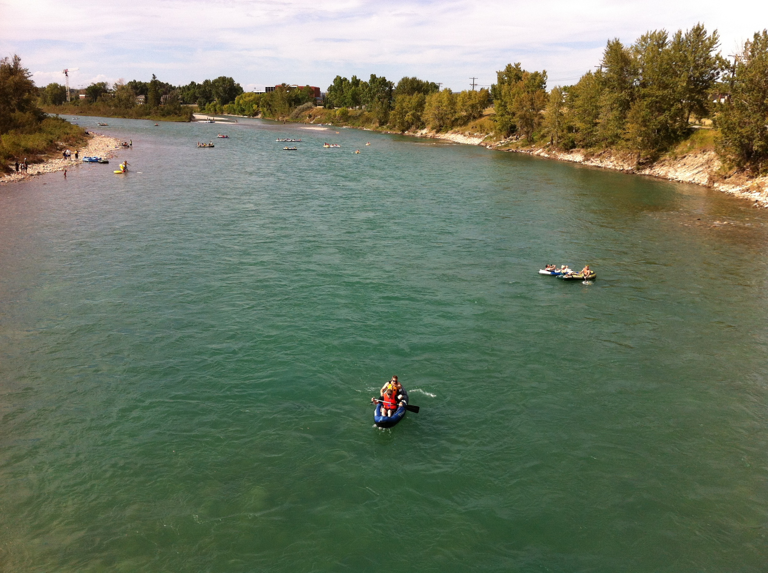 Calgarians love their river also be it floating, paddling, fishing or swimming.