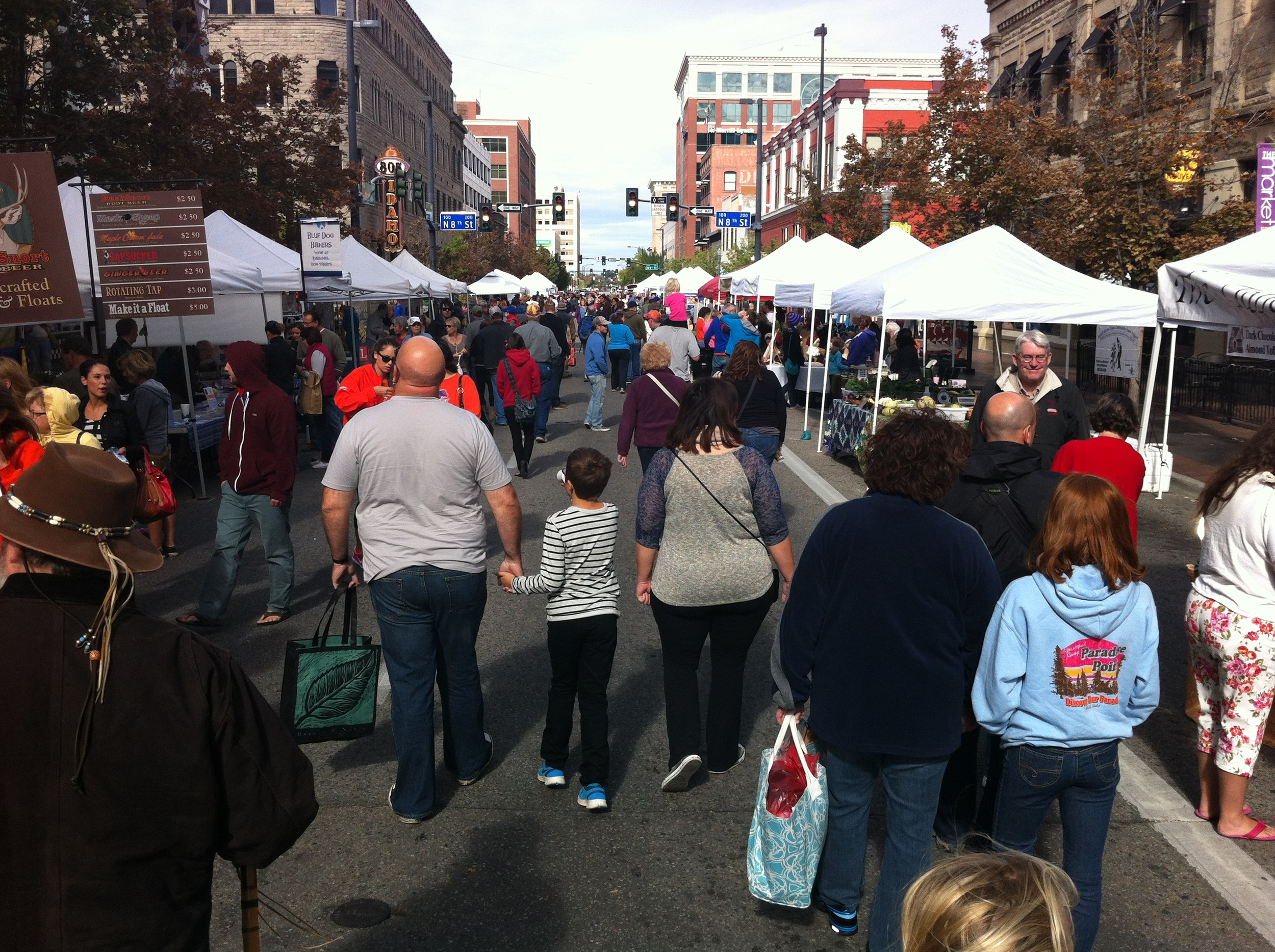 Downtown Boise's Farmers' Market attracts thousands of shoppers and people watchers.